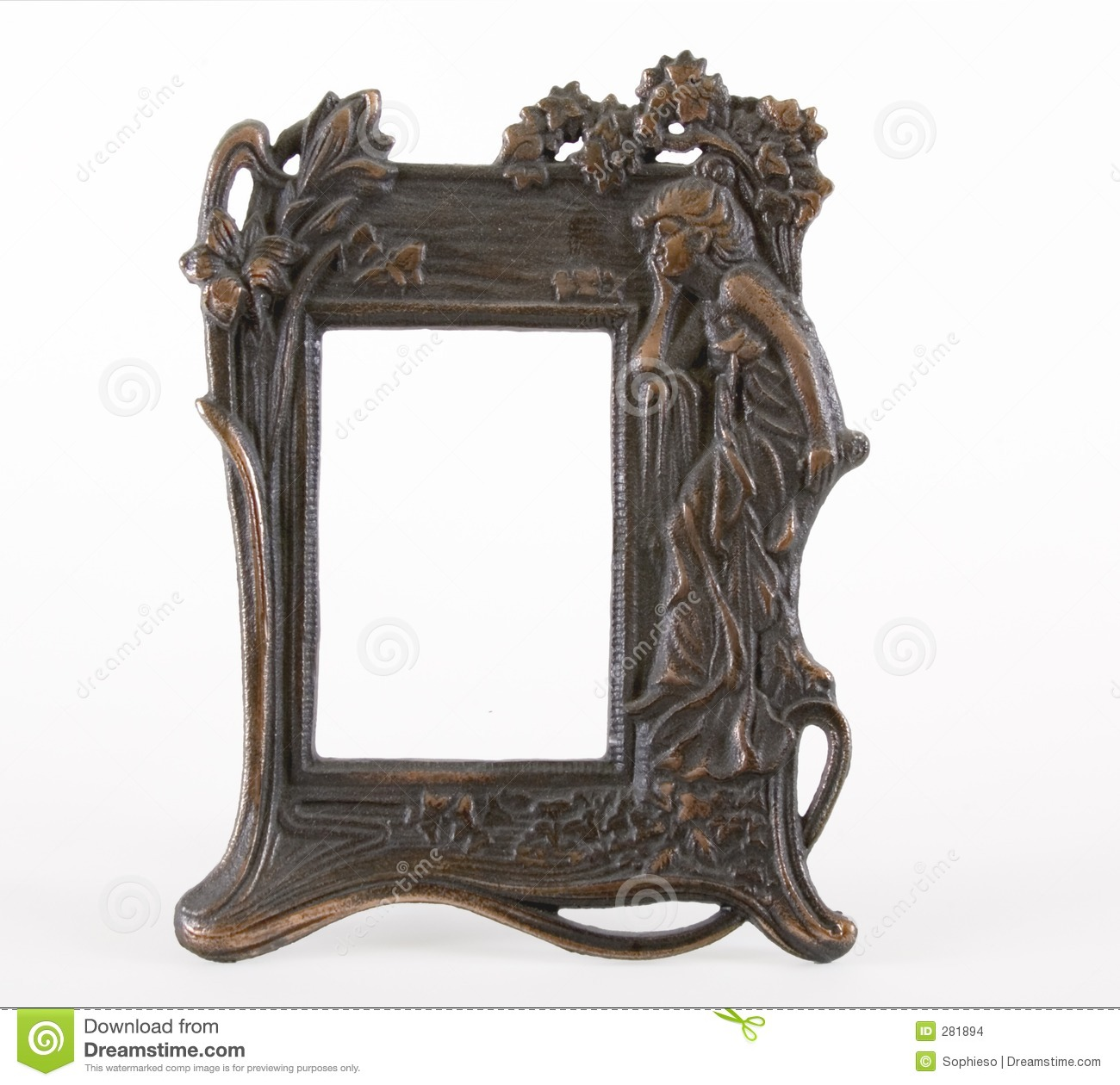 art deco frame stock images