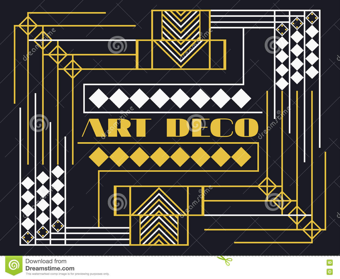 art deco frame art deco geometric vintage frame retro style background style 1920 39 s 1930 39 s. Black Bedroom Furniture Sets. Home Design Ideas
