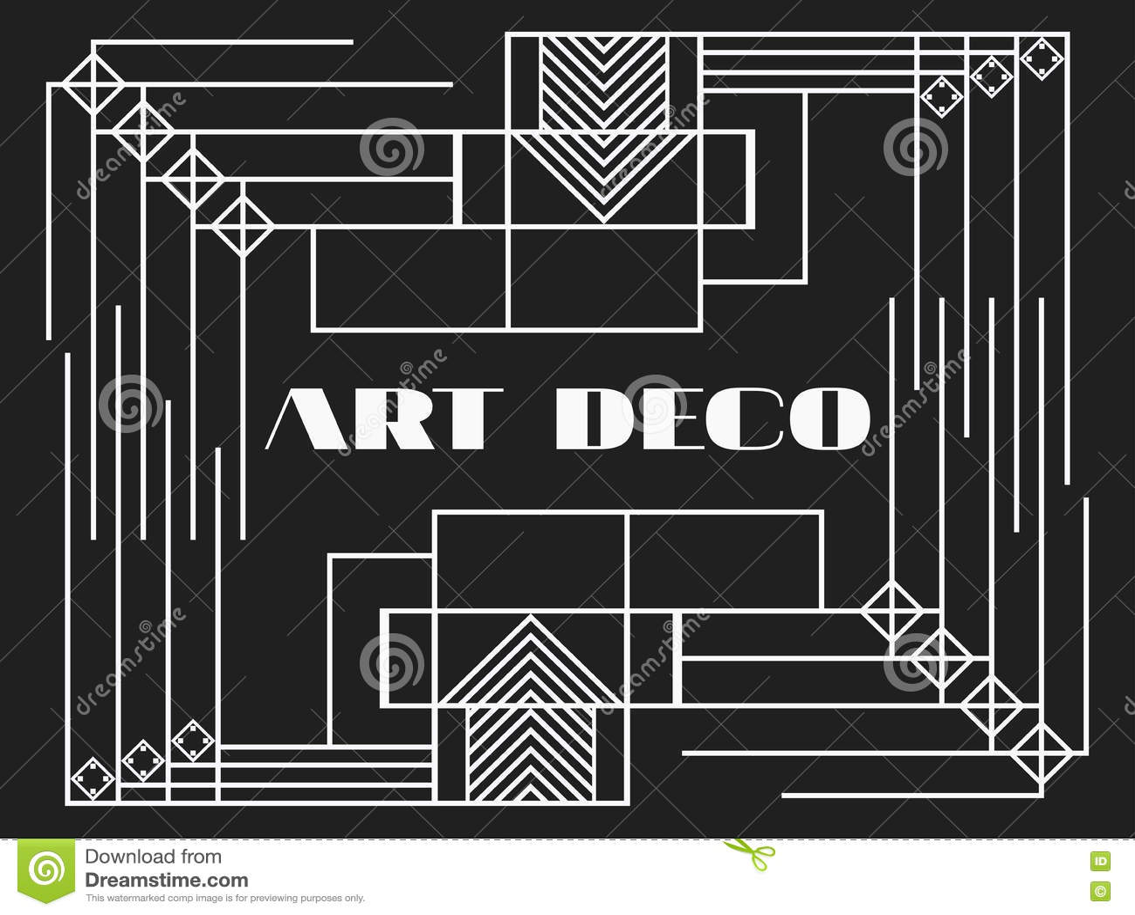 Art Deco Frame Art Deco Geometric Vintage Frame Retro Style Background Style 1920s 1930s Vector Stock Vector Illustration Of Beautiful Modern 79379235