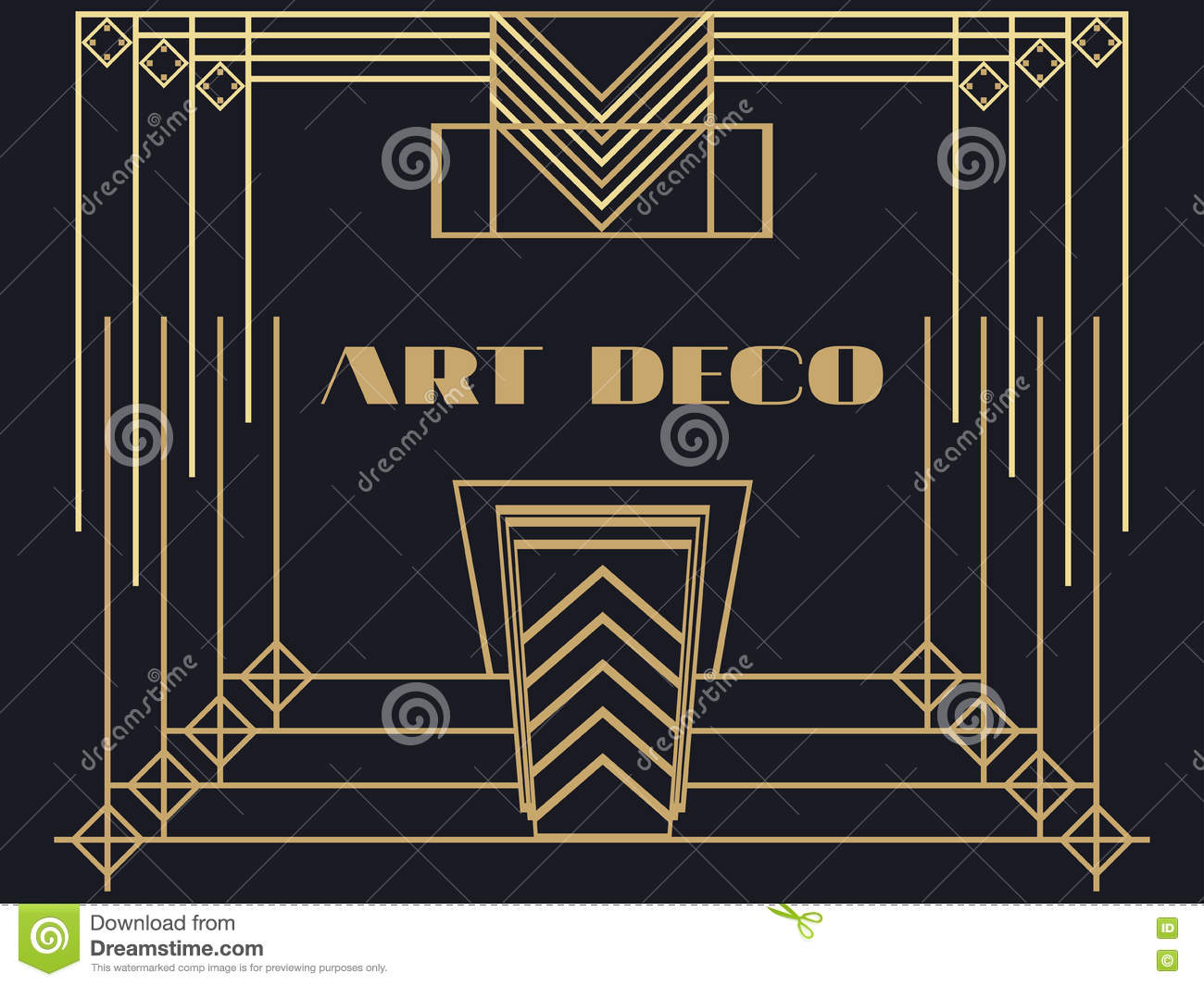Art Deco Frame Art Deco Geometric Vintage Frame Retro