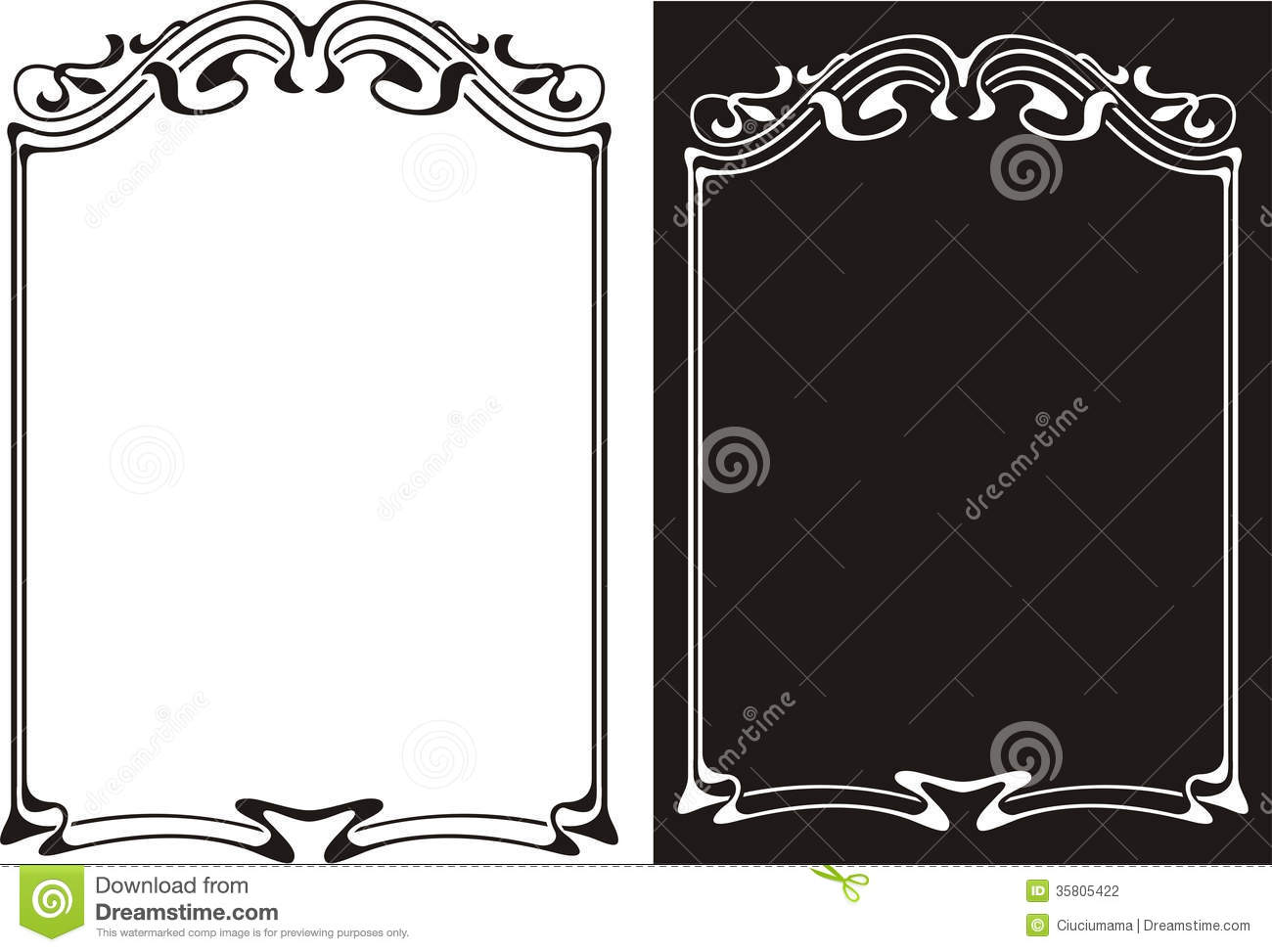 Art Deco Frame Stock Photography - Image: 35805422