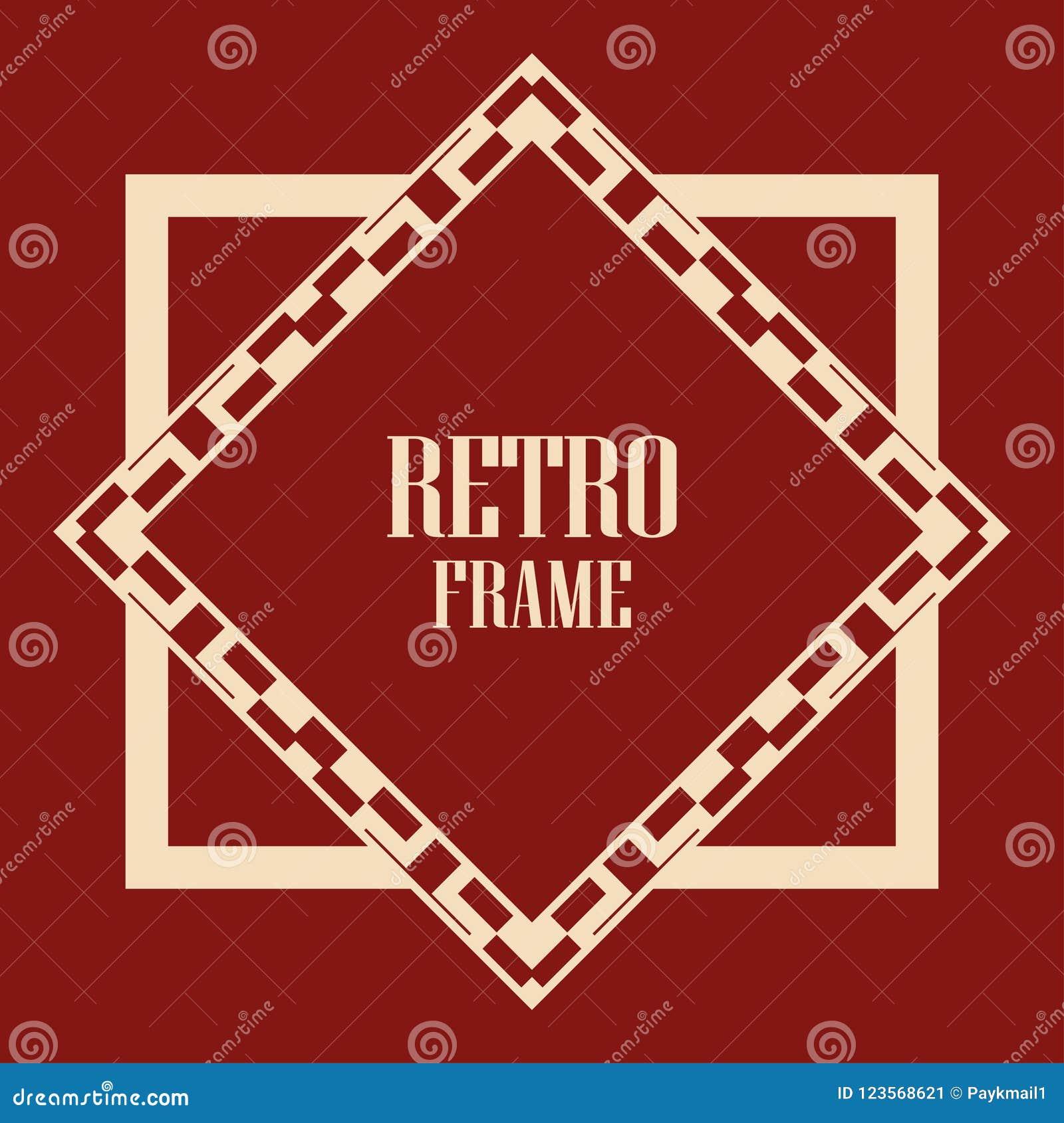 Art Deco Frame stock vector. Illustration of gatsby - 123568621