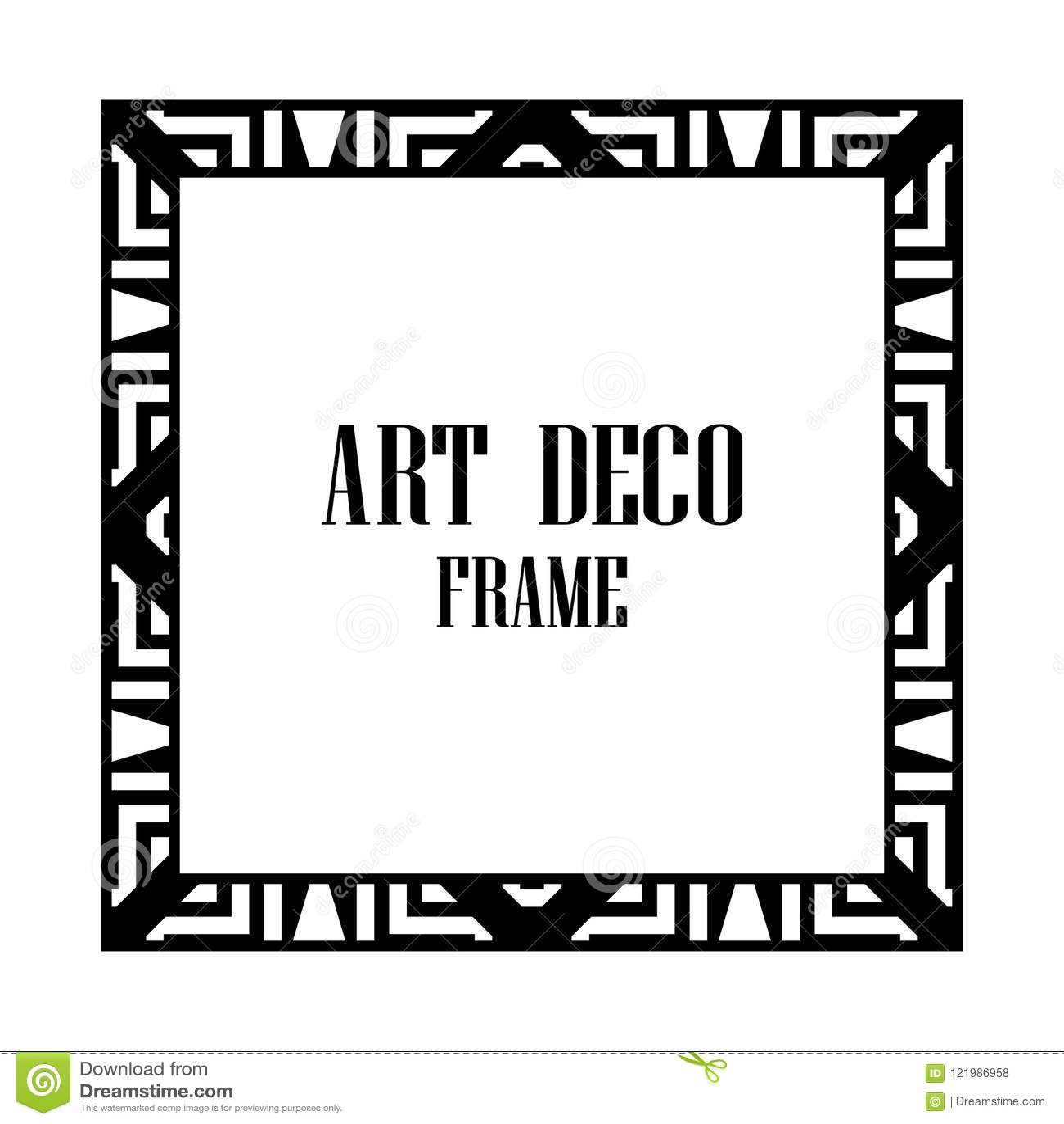 Art Deco Frame Stock Vector Illustration Of Great Gatsby 121986958