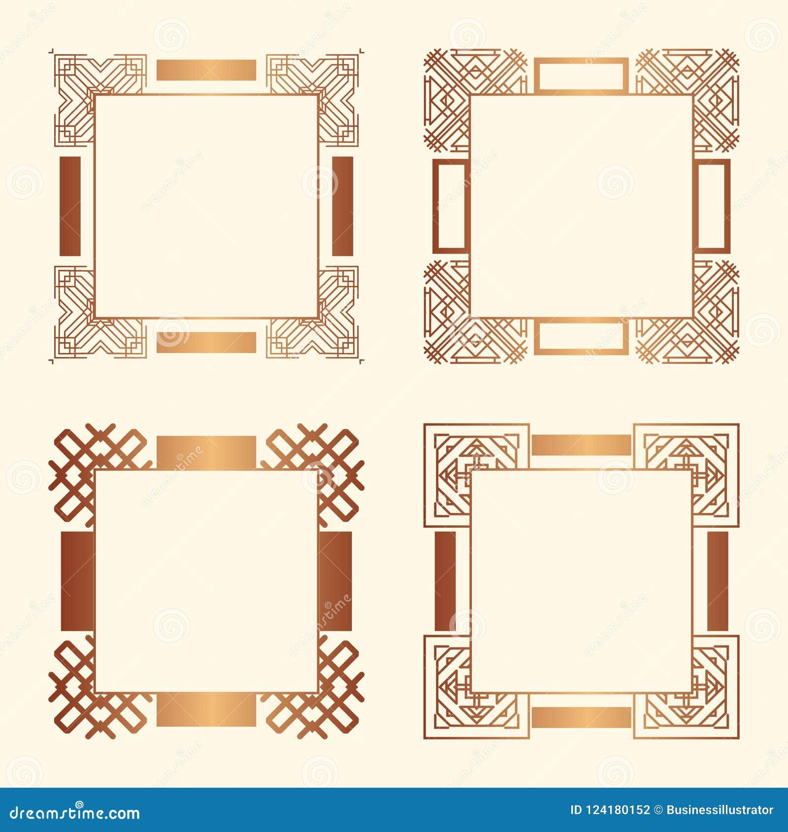 Art Deco Frames Stock Vector Illustration Of Deco Design