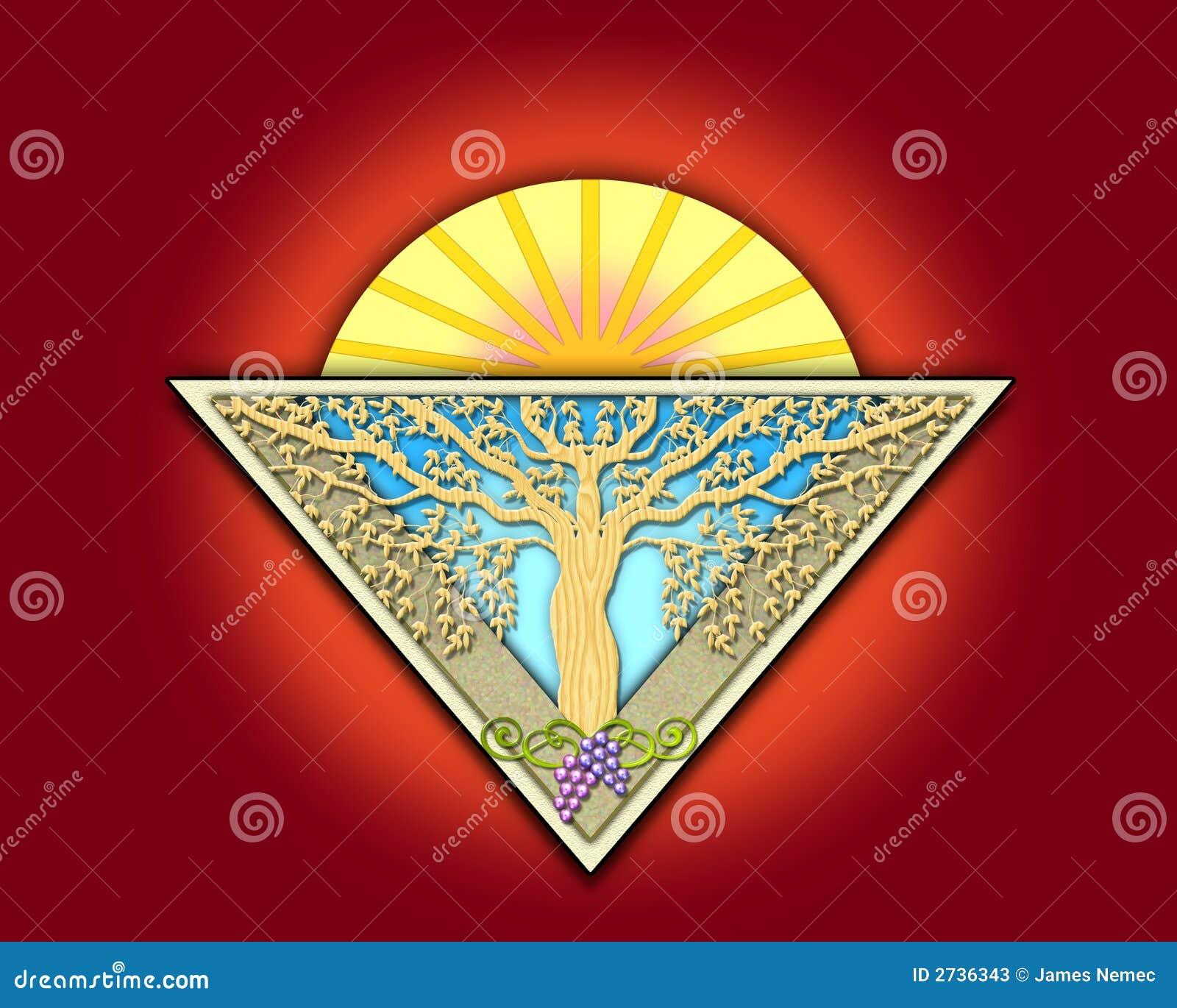 Art deco garden tile stock photos image 2736343 - Art deco gardinen ...