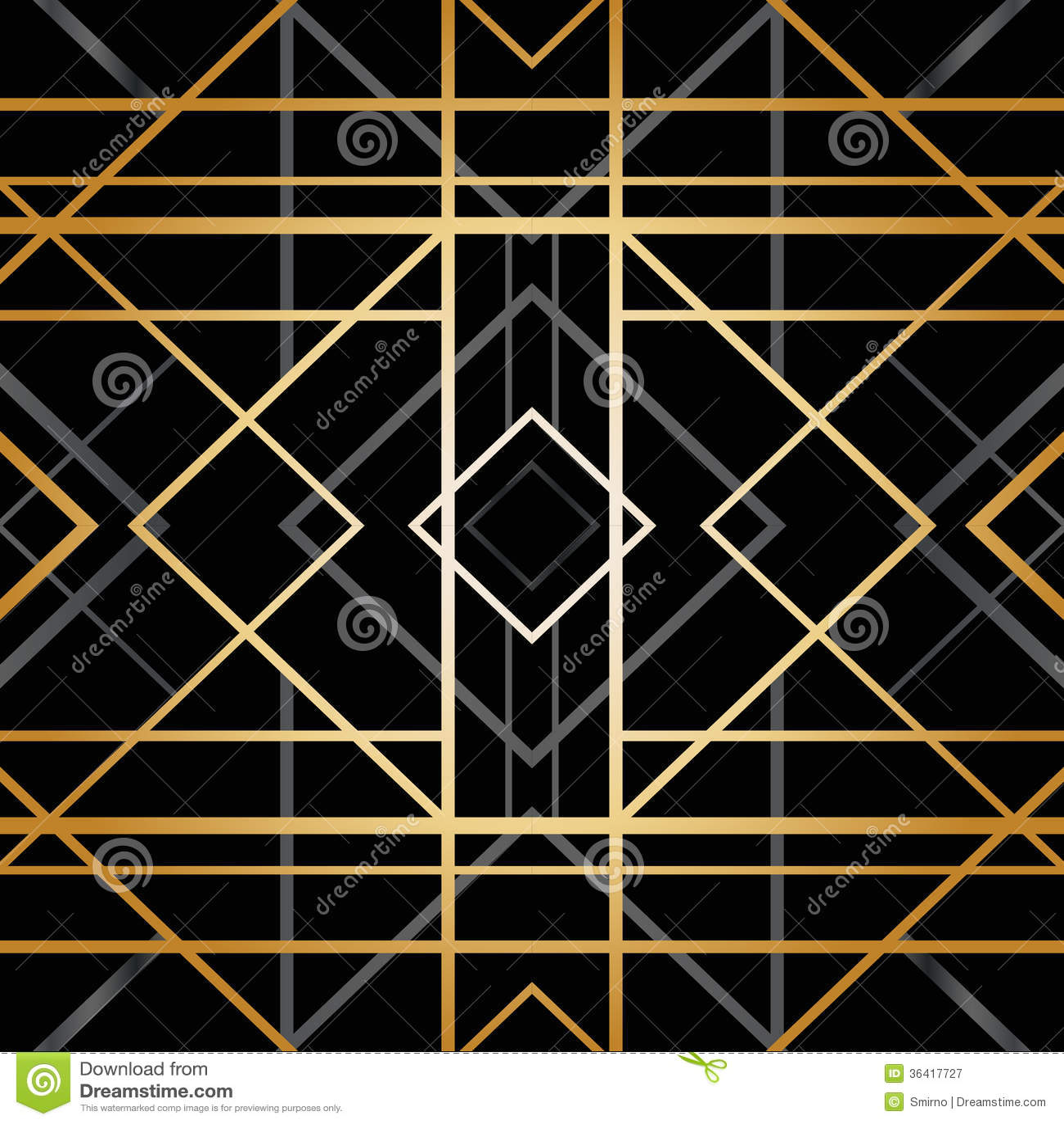 Art deco geometric pattern stock vector. Illustration of backdrop ...