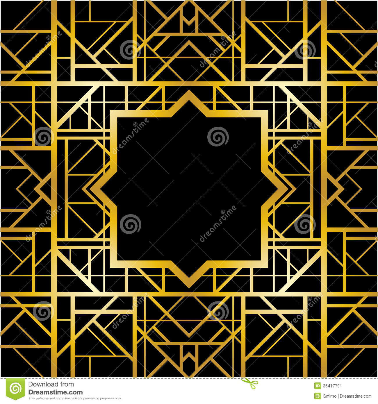 Art Deco Geometric Pattern Stock Image - Image: 36417791