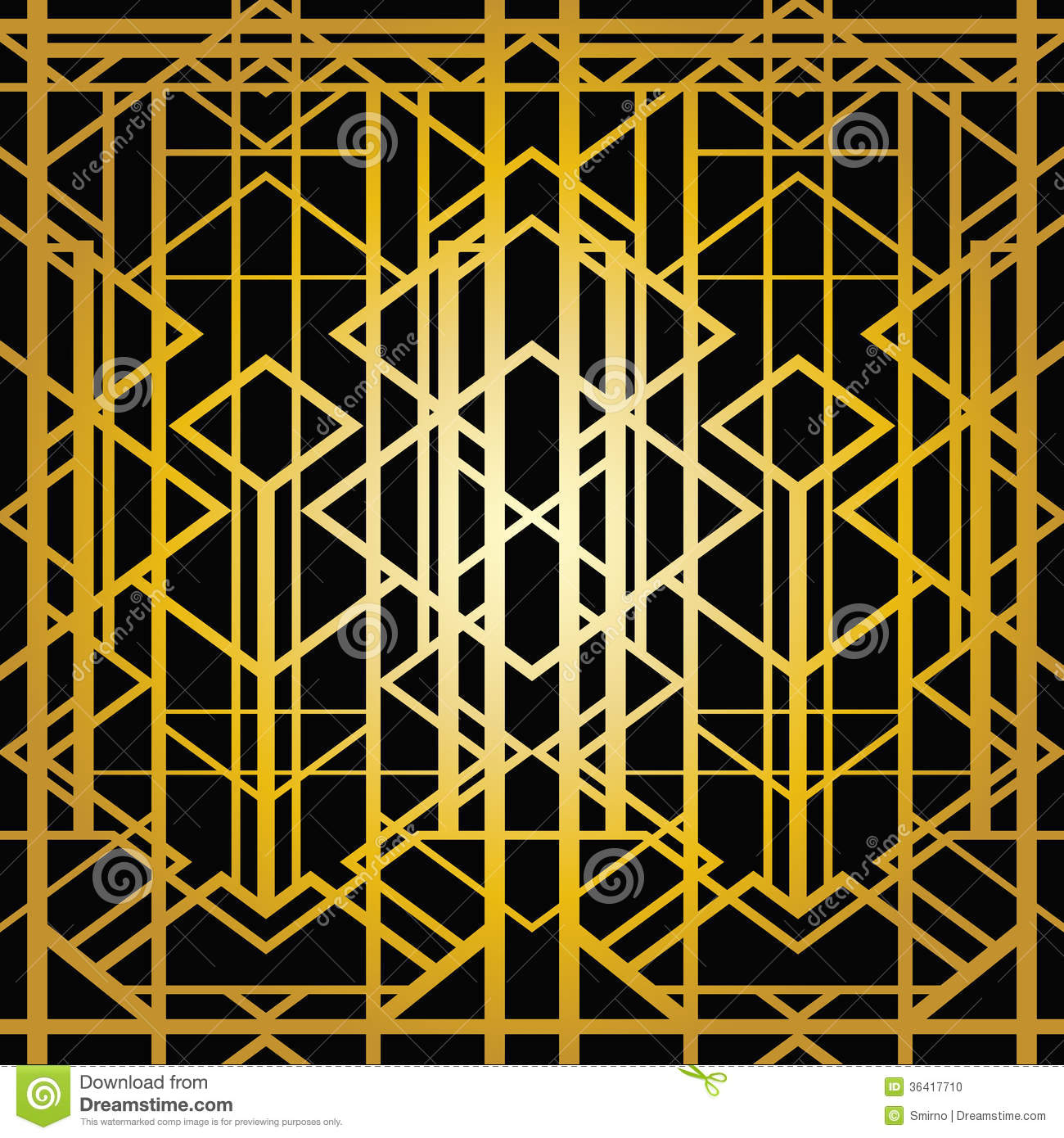 Art Deco Geometric Pattern Stock Photo - Image: 36417710