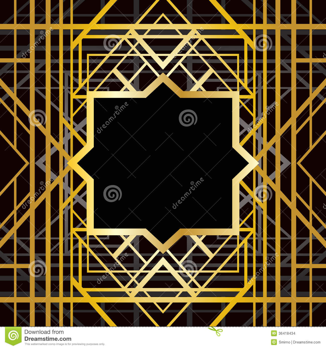 Art Deco Geometric Pattern Stock Images - Image: 36418434