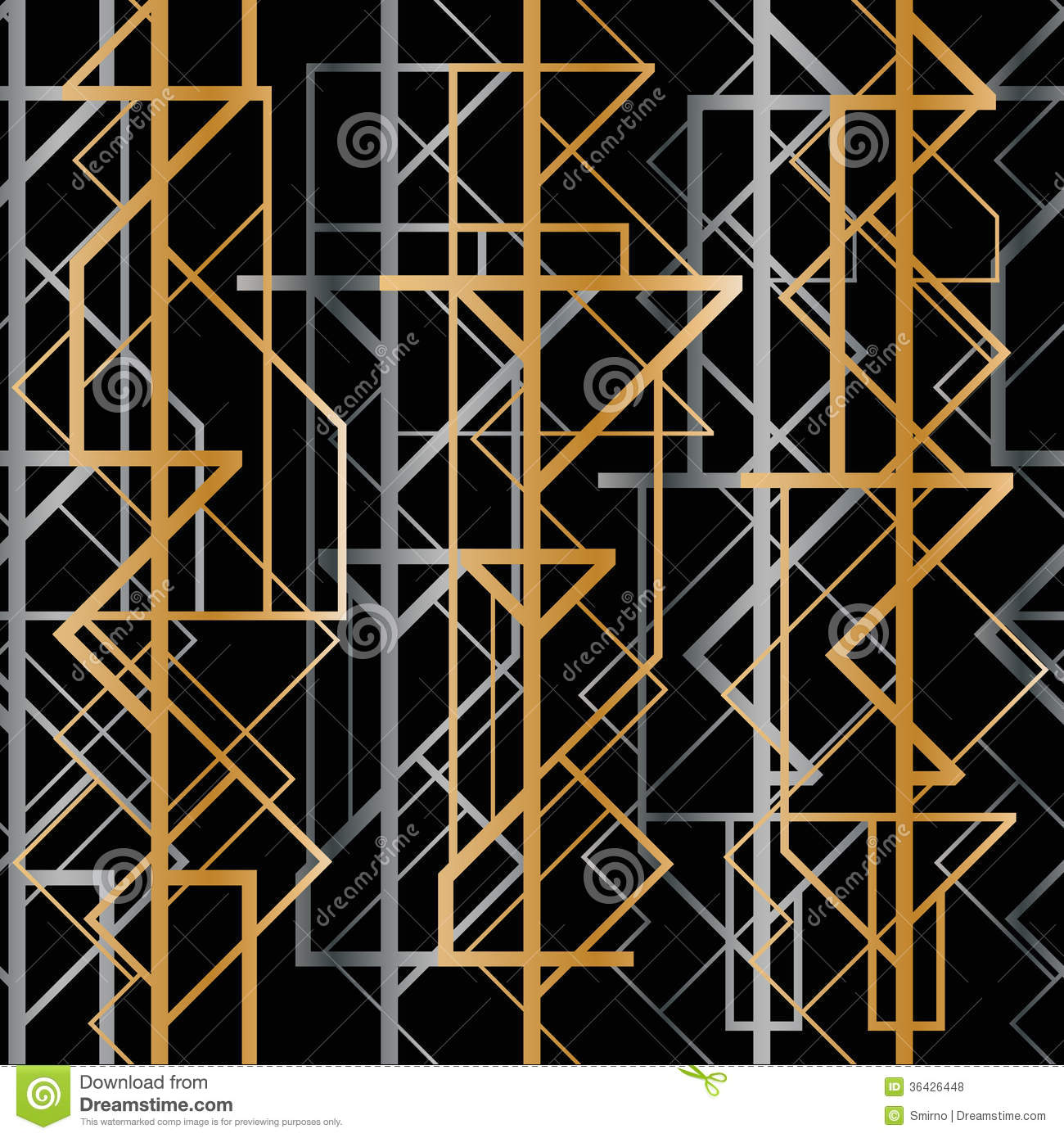 Art Deco Geometric Pattern Royalty Free Stock Photos ...