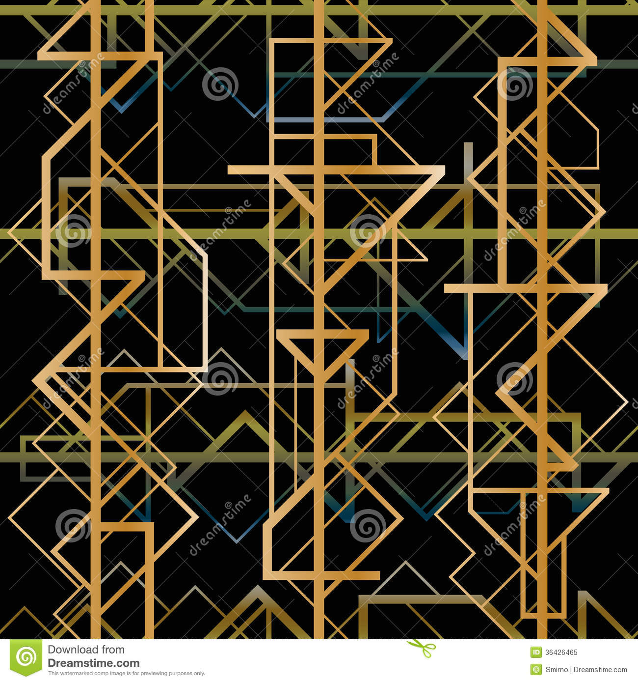 Art Deco Geometric Pattern Royalty Free Stock Photo ...