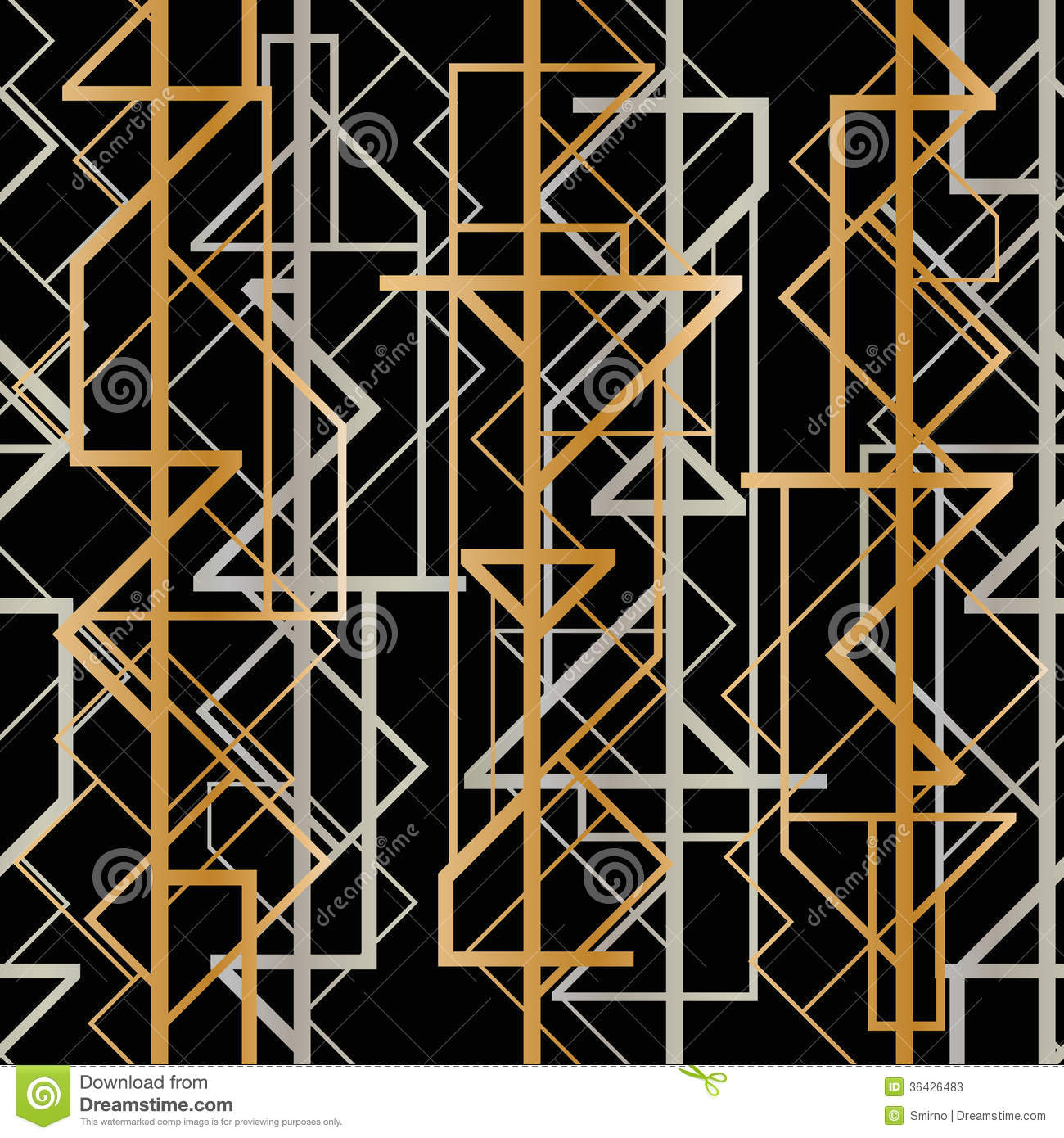 Art Deco Geometric Pattern Stock Photos - Image: 36426483
