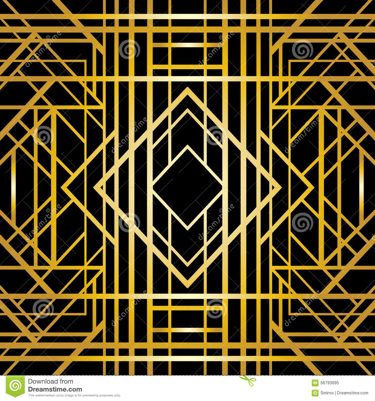 Art Deco Geometric Pattern Stock Vector - Image: 56793695
