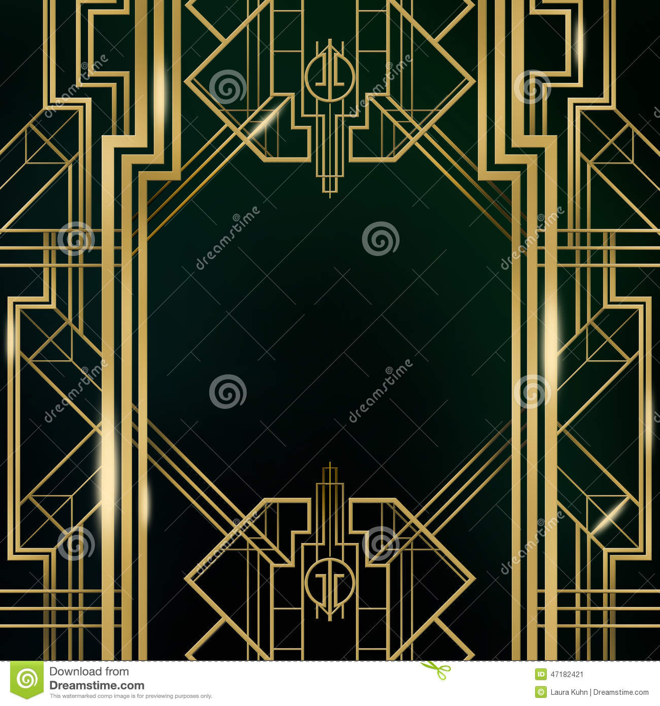 art deco great gatsby background stock image illustration of