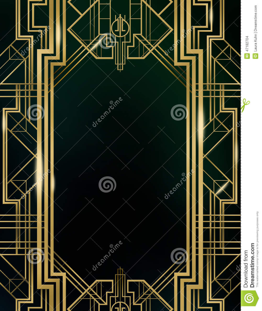 Art Deco Great Gatsby Background Stock Illustration ...
