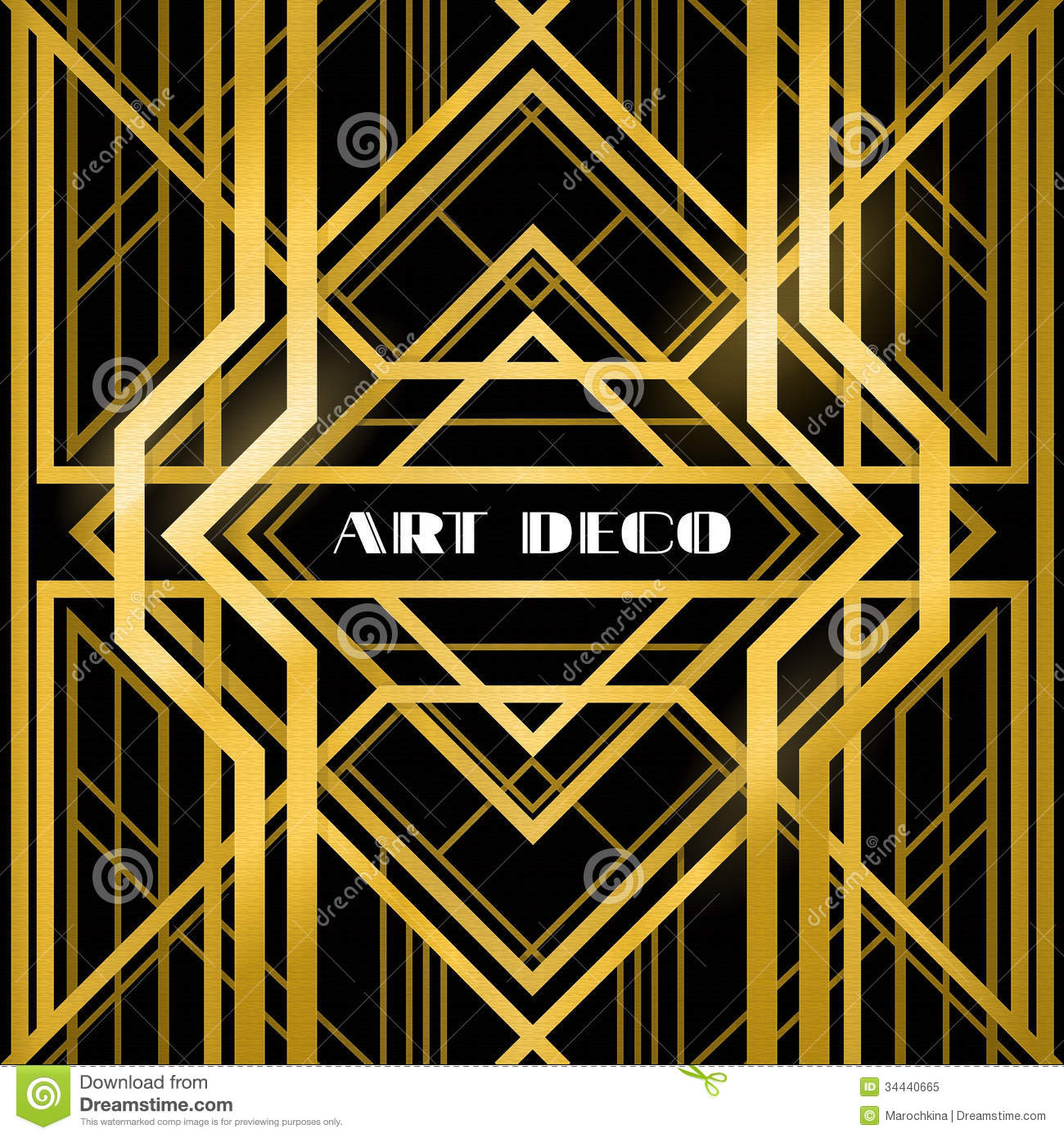 art deco grille stock vector illustration of border 34440665. Black Bedroom Furniture Sets. Home Design Ideas