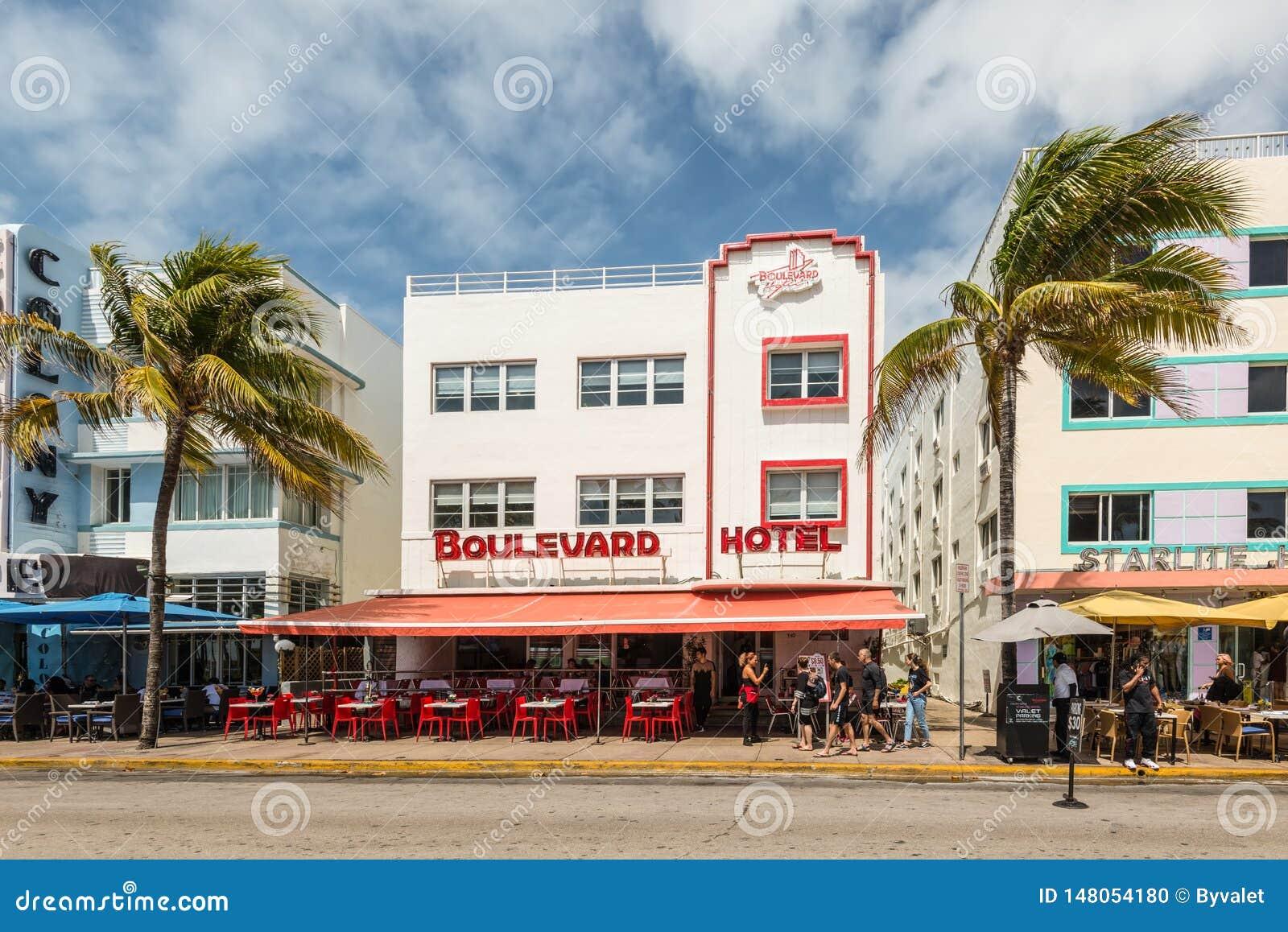 Deco Etats Unis Chambre art deco historic district dans miami beach : plage du sud
