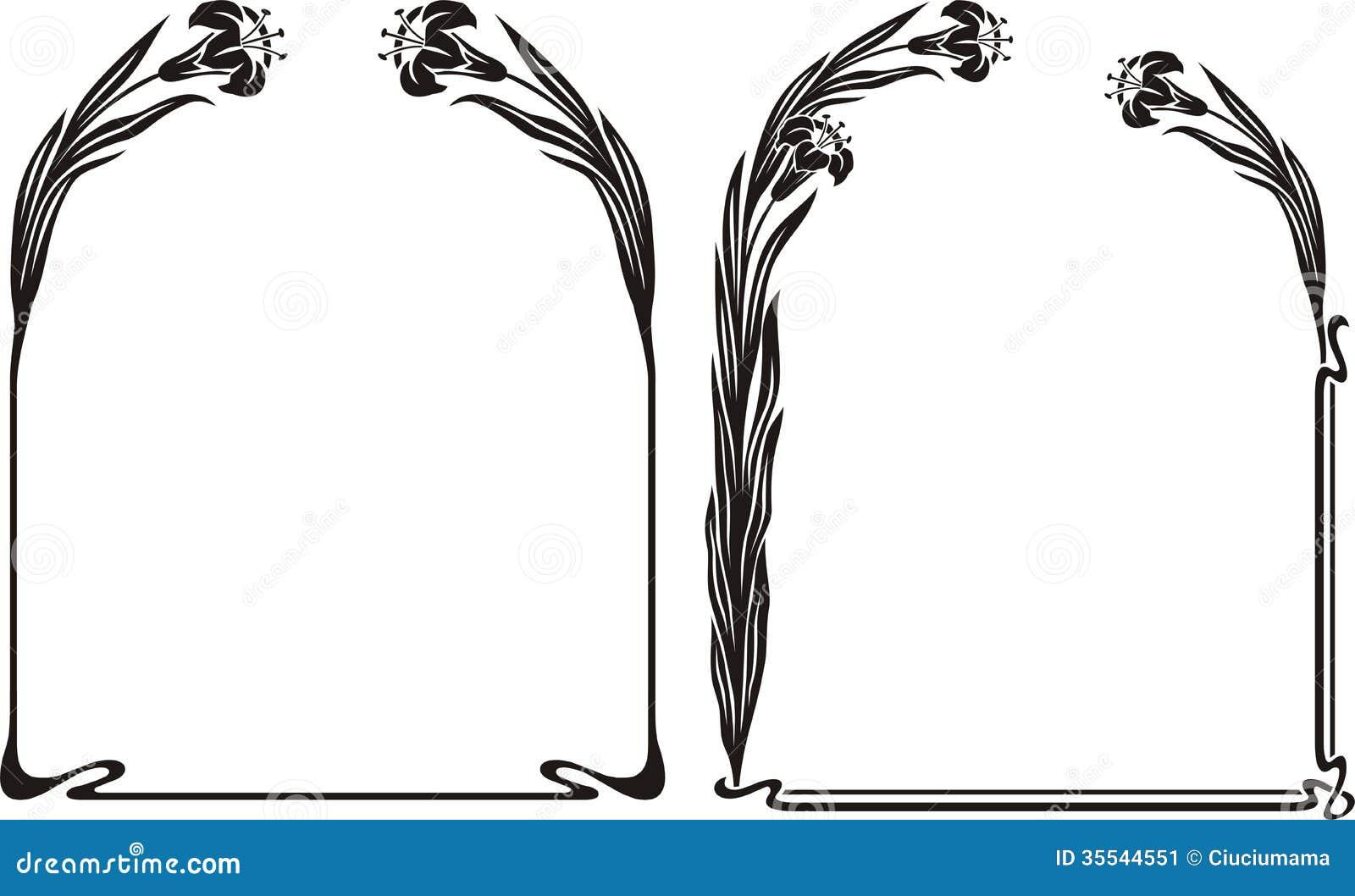 Art deco iris frame stock vector. Illustration of leaves - 35544551