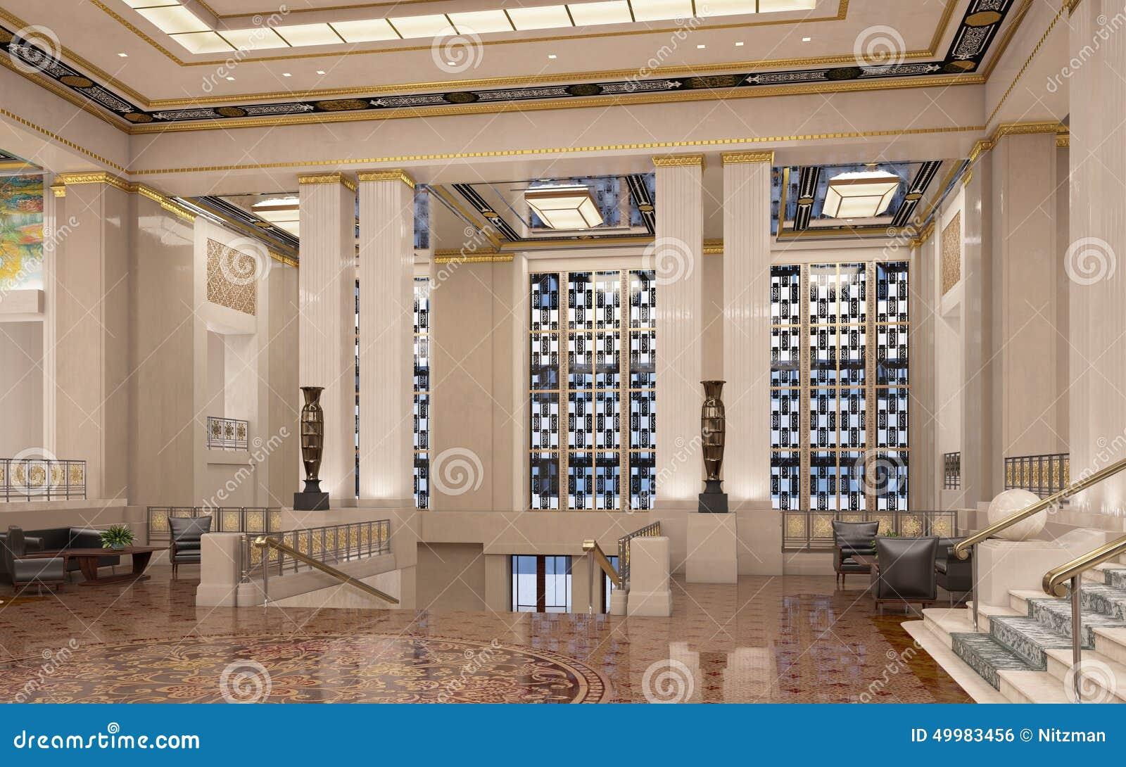 Art deco lobby stock illustratie illustratie bestaande uit
