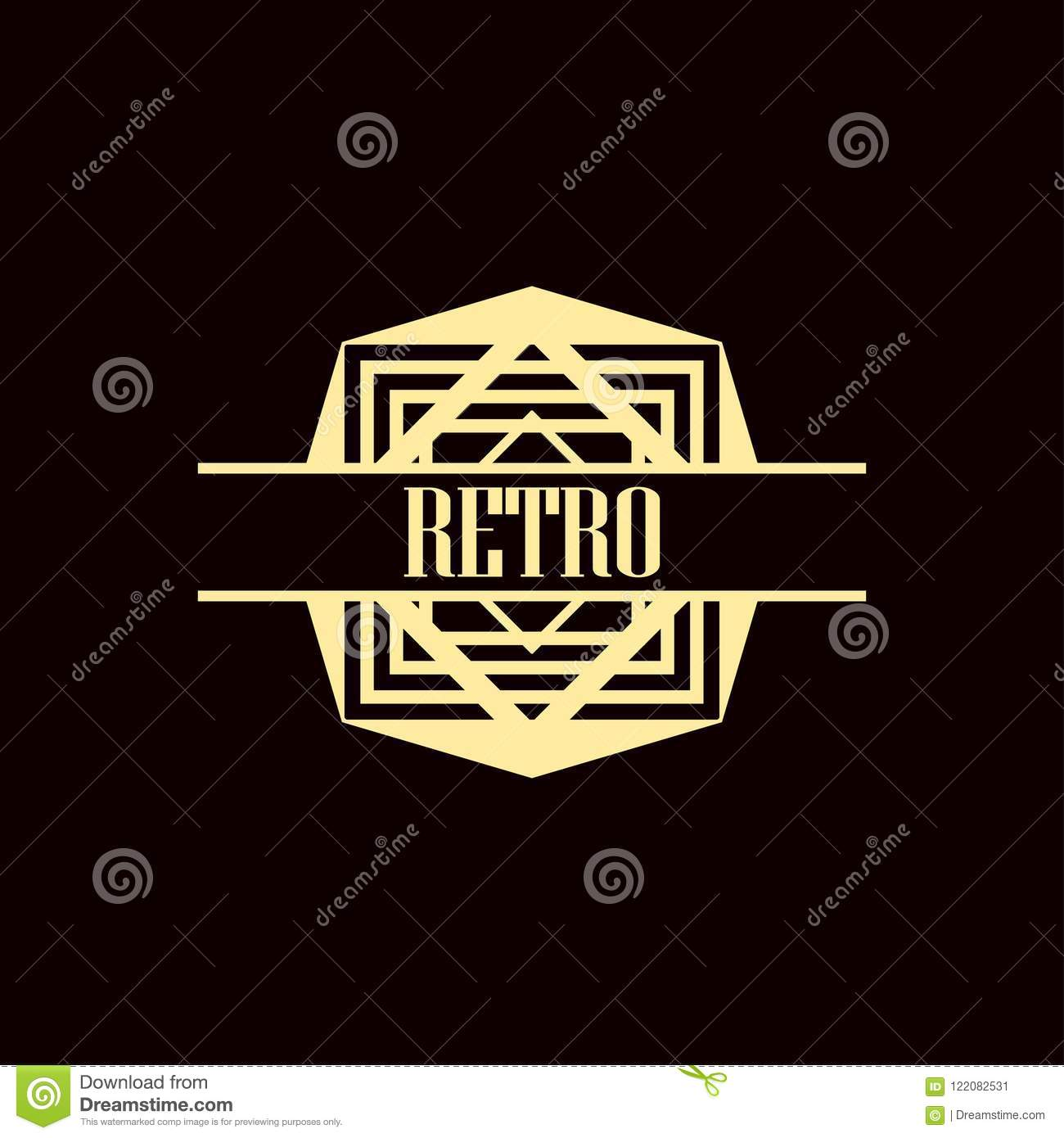art deco logo stock vector illustration of decoration 122082531