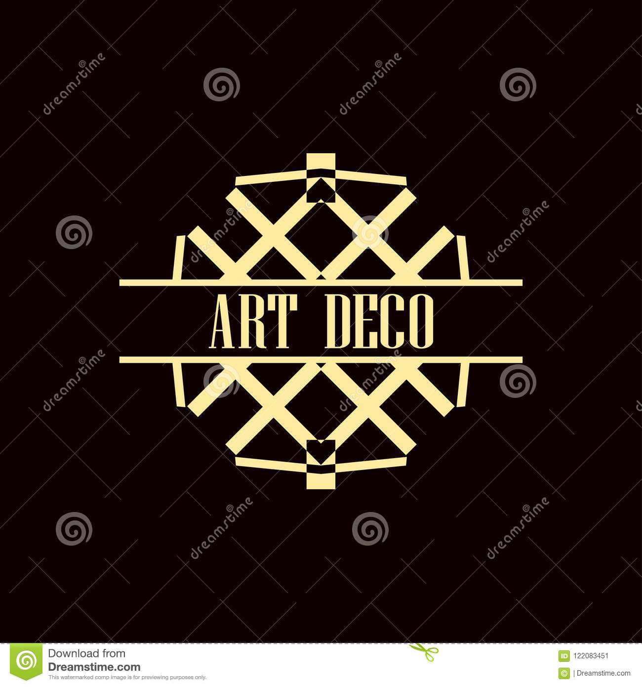 art deco logo stock vector illustration of beige abstract 122083451