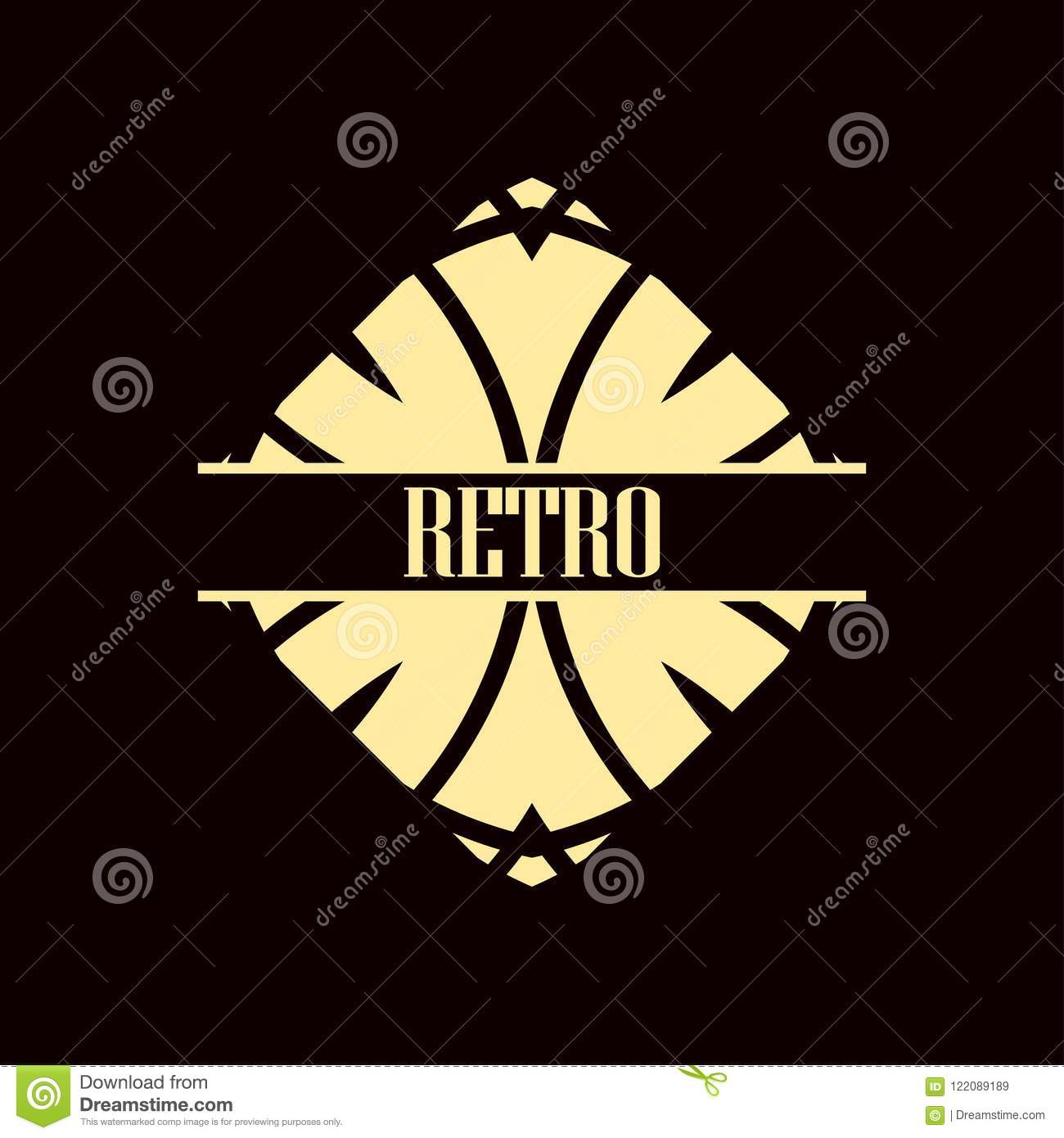 art deco logo stock vector illustration of abstract 122089189