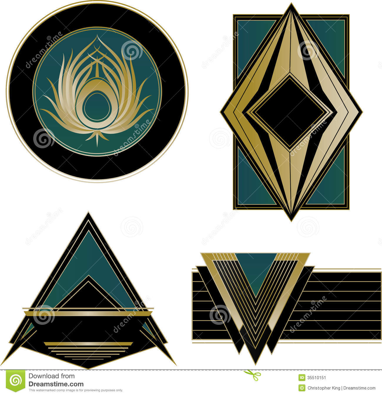 Art Deco Design Elements art deco logos and design elements royalty free stock photography