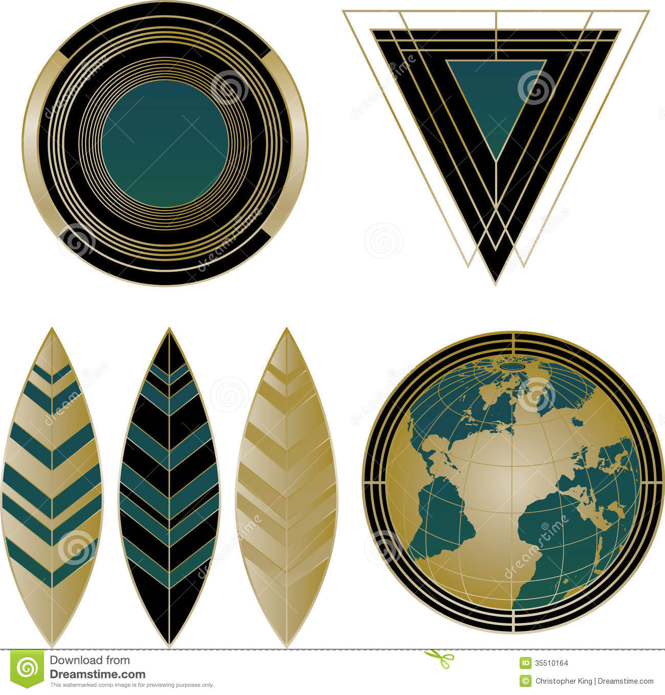 Art deco logos and design elements stock images image for Deco graphic
