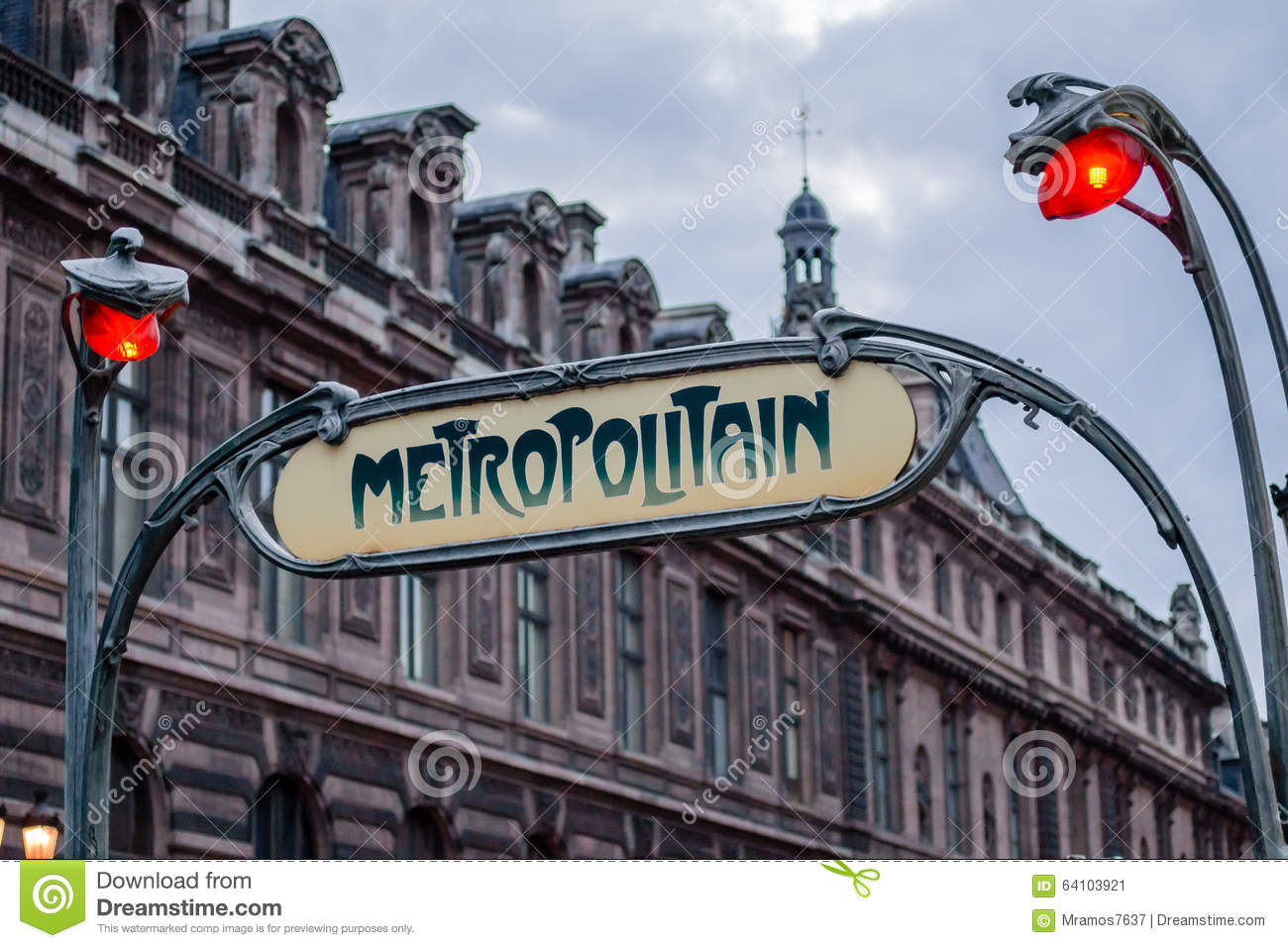 Art deco metro station sign in paris france stock image for Deco in paris
