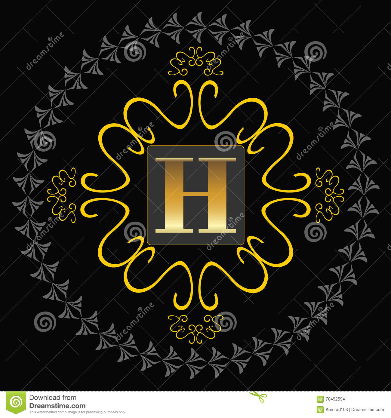Art deco monogram stock photo image 70492594 for Boutique deco