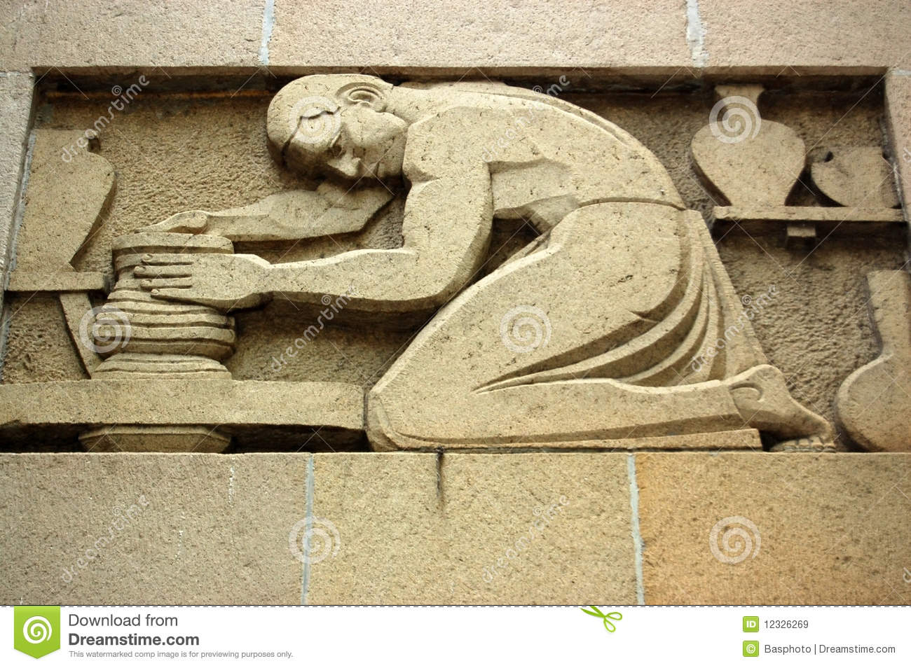 Art deco sculpture stock photo. Image of sculpted, laborers - 4255464
