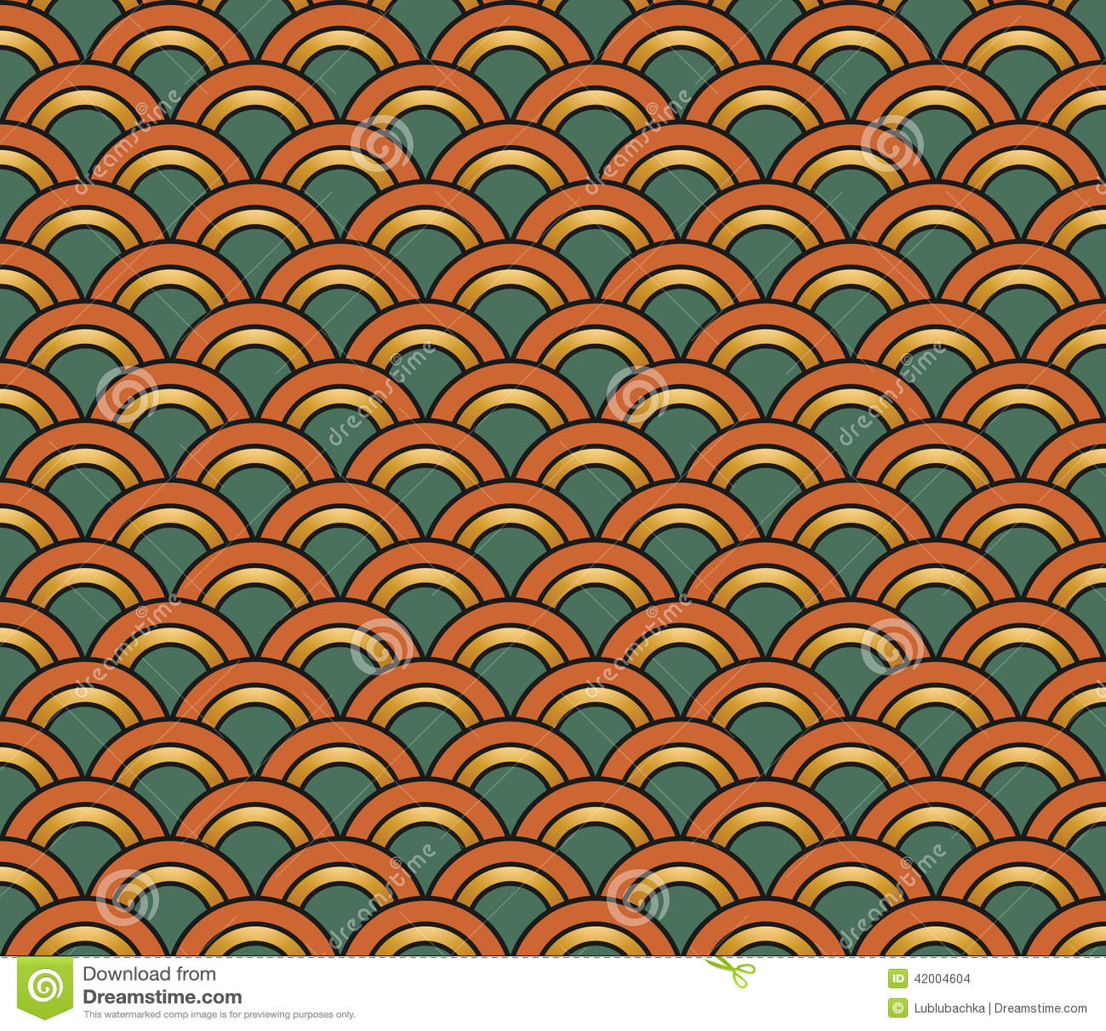 art deco seamless vintage wallpaper pattern vector 42004604