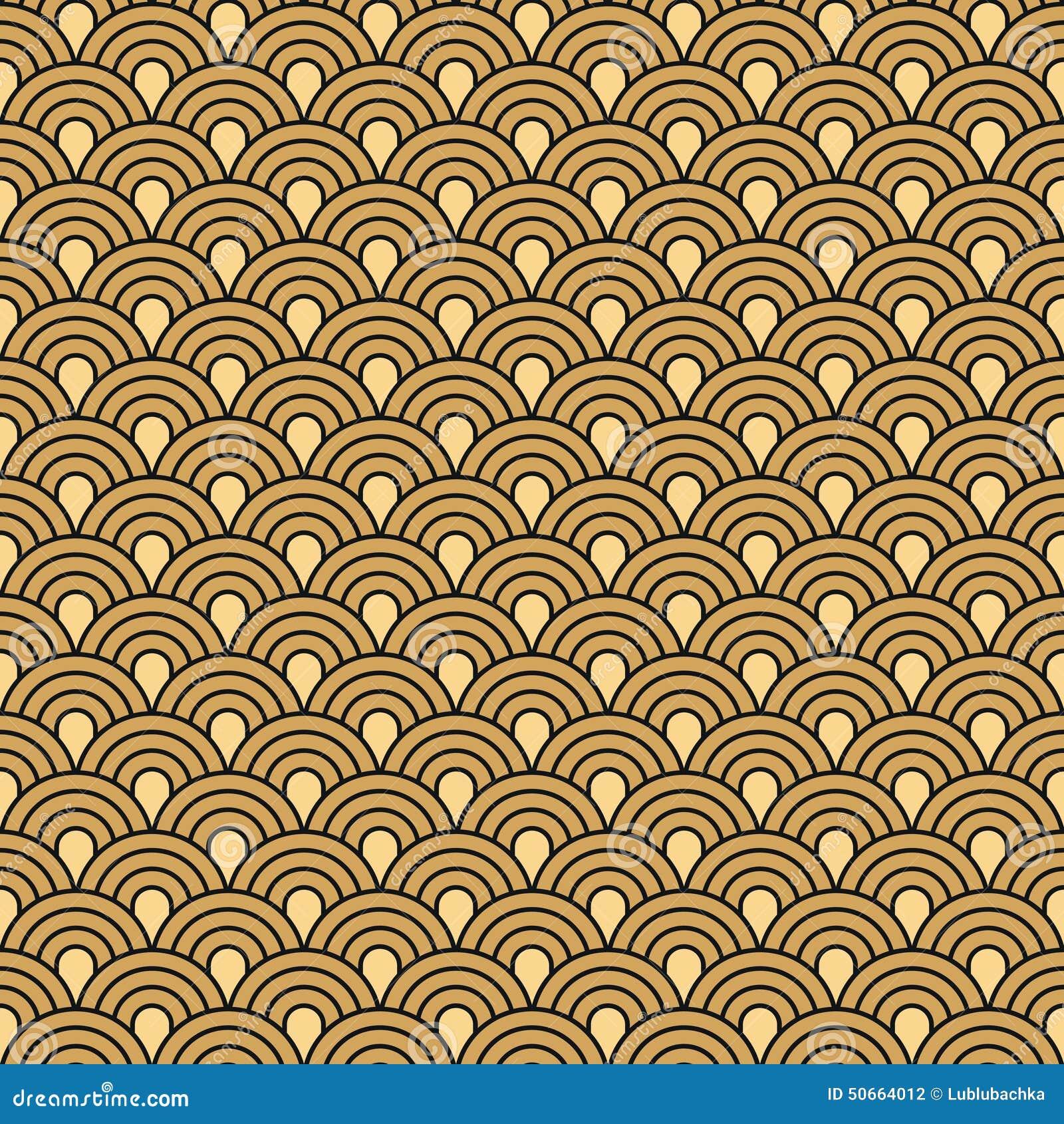 Art Deco Seamless Vintage Wallpaper Pattern Stock Vector