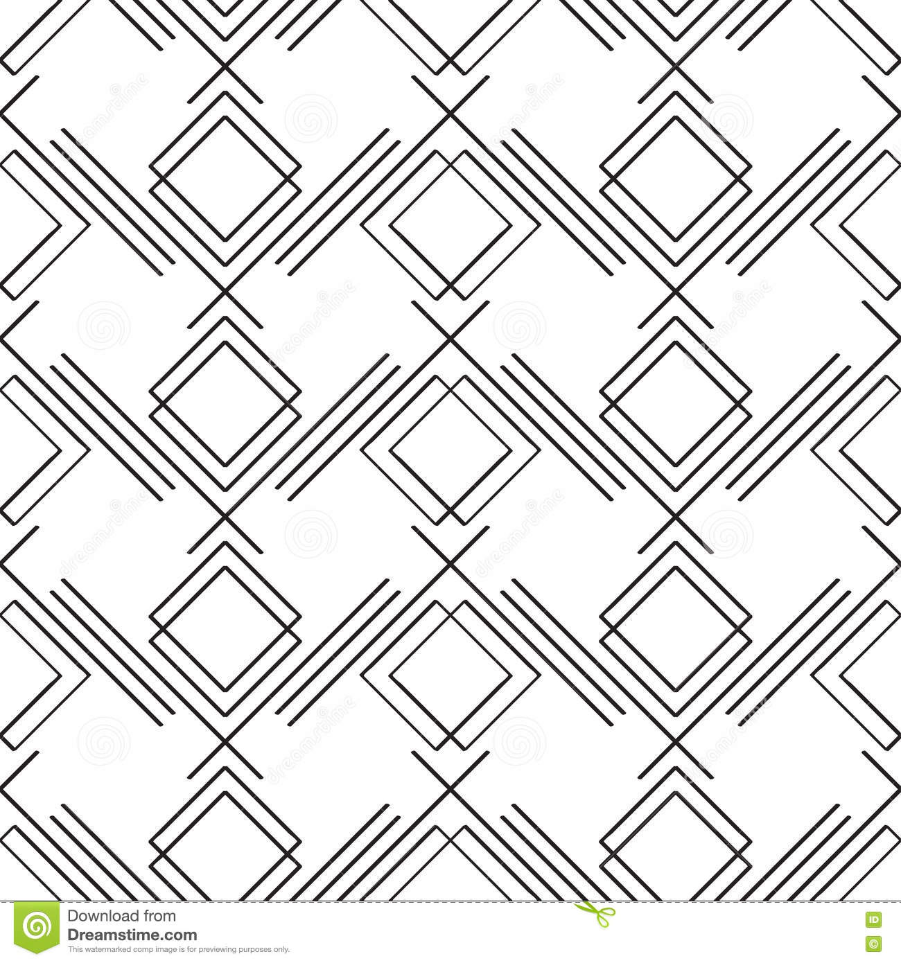 Art Deco Simple Linear Seamless Pattern Stock Vector