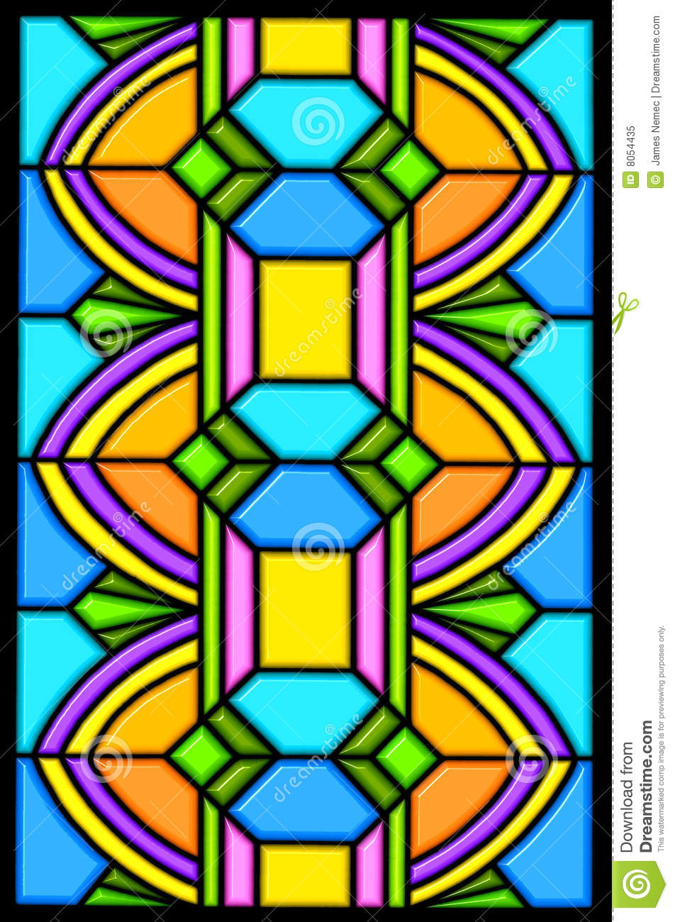 art deco stain glass design royalty free stock photo image 8054435. Black Bedroom Furniture Sets. Home Design Ideas
