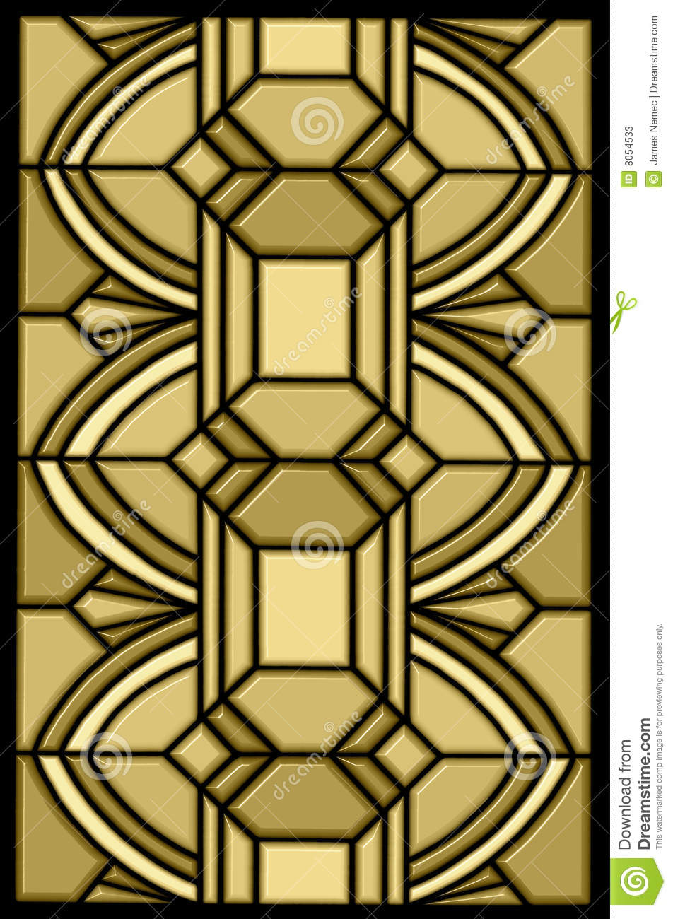 Art deco stain glass design stock photos image 8054533 for Design art deco