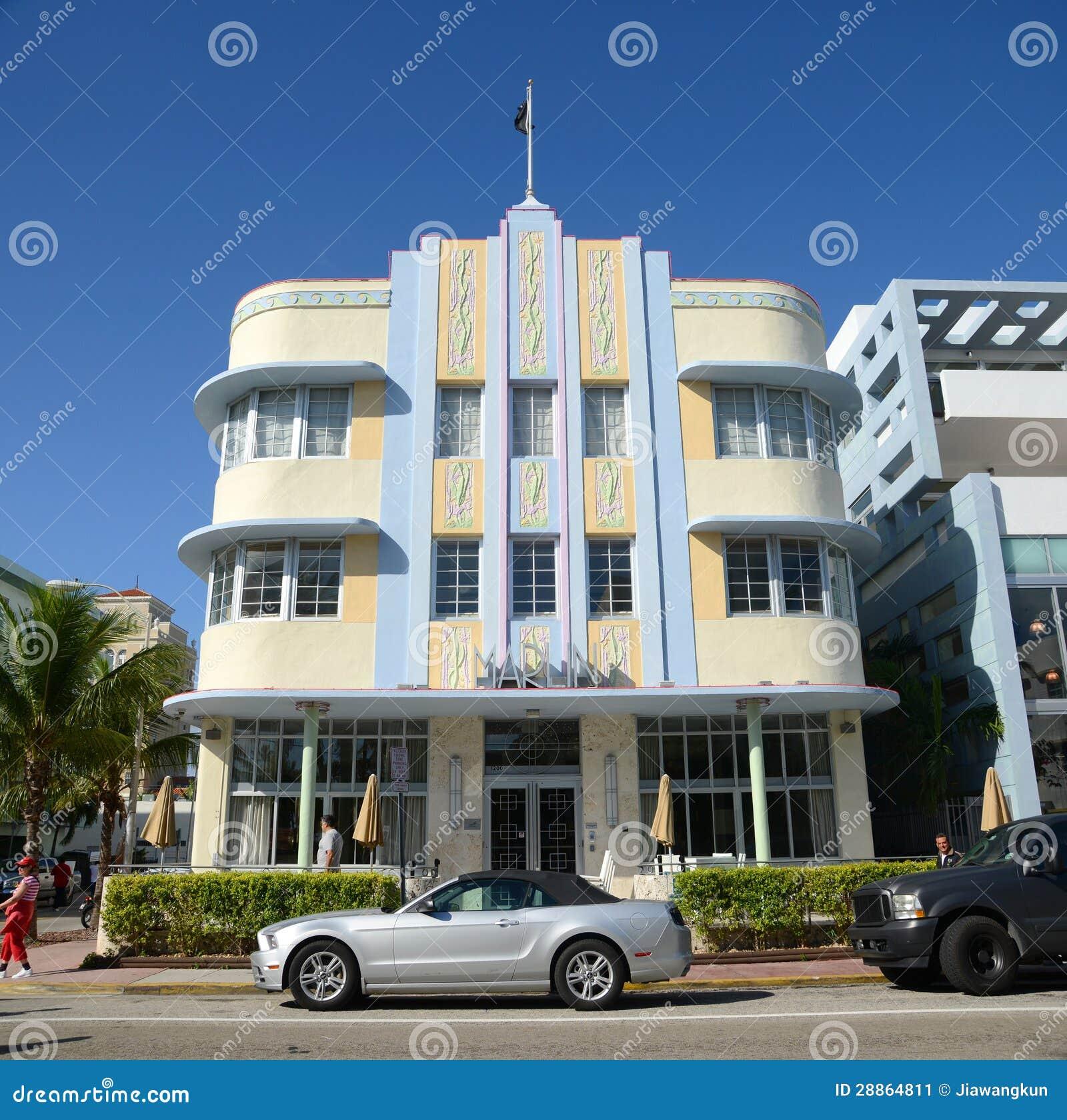 Art Deco Style Marlin In Miami Beach Editorial Photo Image 28864811