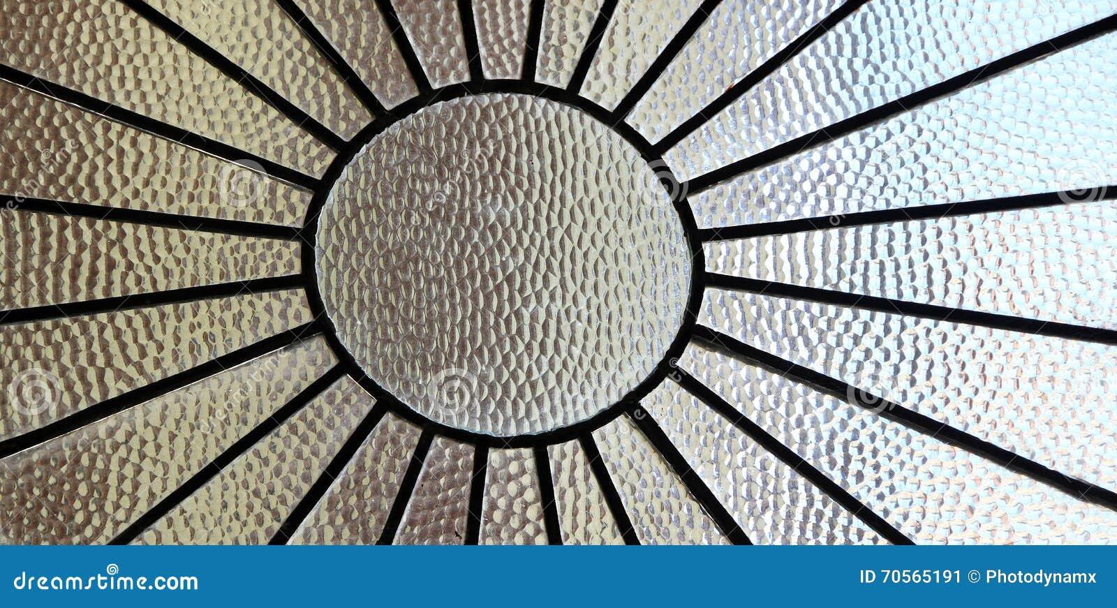 Glass window design - Art Deco Sunburst Glass Window Design