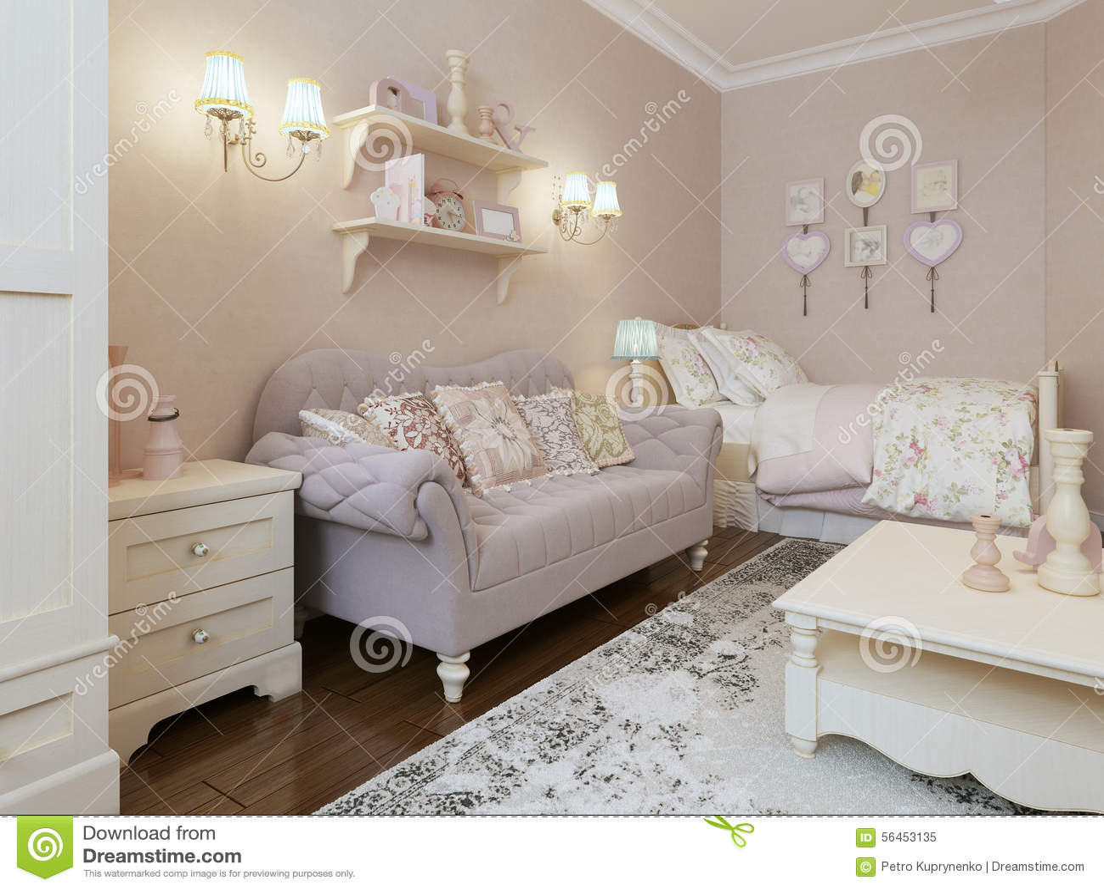 Art deco sypialni styl zdjęcie stock   obraz: 56453135