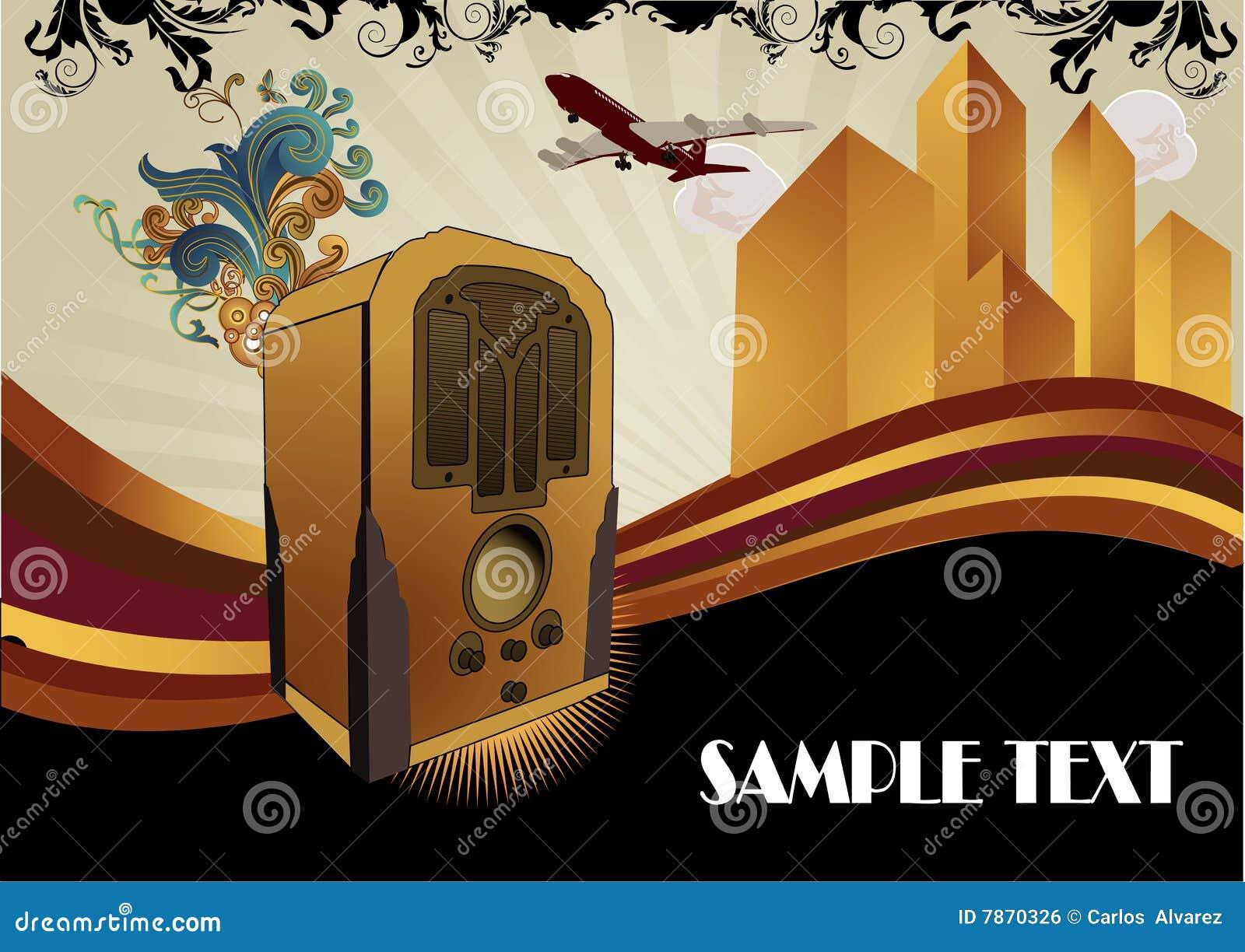 Art Deco Music Vector Illustration