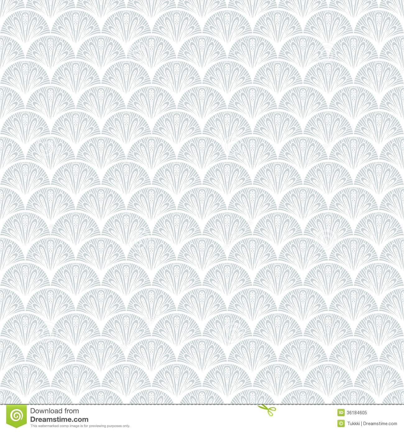Art deco vector geometric pattern in silver white royalty for Wallpaper home texture