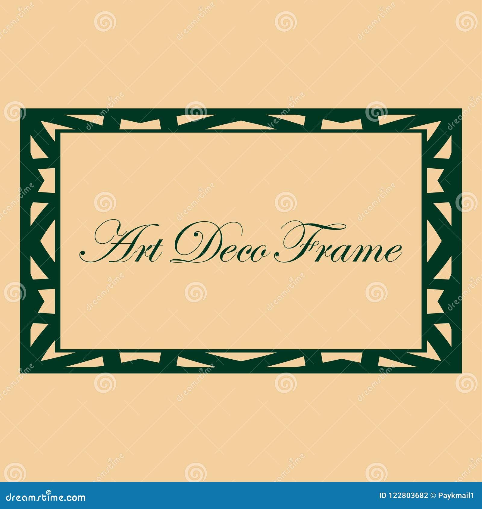 Bookplate Template   Art Deco Frame Stock Vector Illustration Of Bookplate 122803682