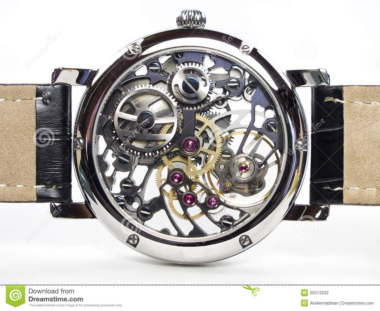 art deco watch skeleton movement stock photography image 25013332. Black Bedroom Furniture Sets. Home Design Ideas