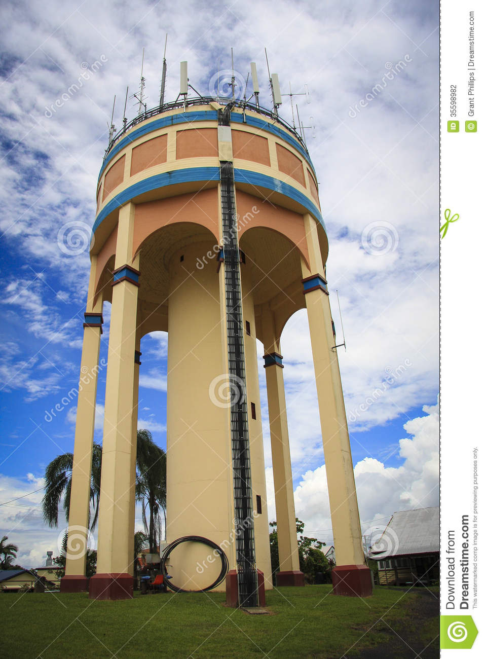 art deco water tower stock photo  image of deco  tropical