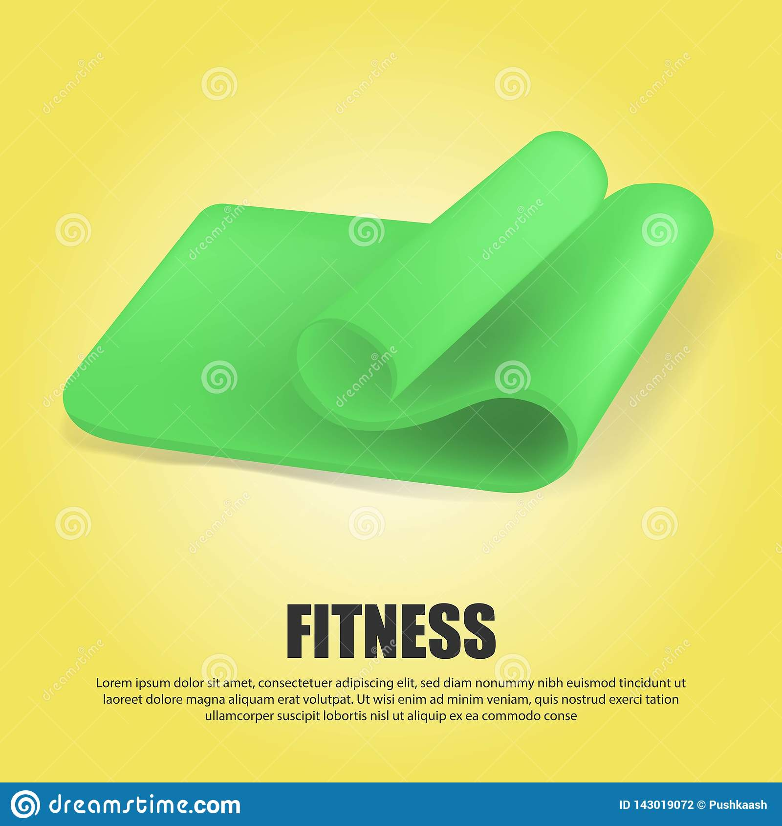 Creative Illustration Of Half Green Rolled Yoga Mat Isolated On Transparent Background Art Design Fitness And Health Stock Photo Image Of Roller Activity 143019072