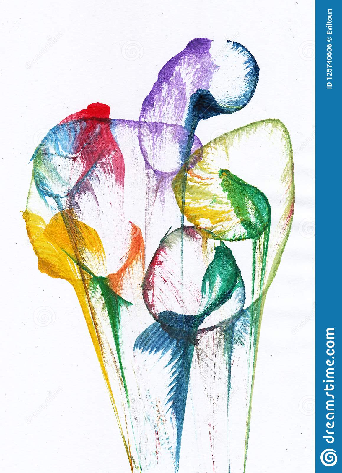 Art Flower Abstract Stock Illustration Illustration Of Flowers