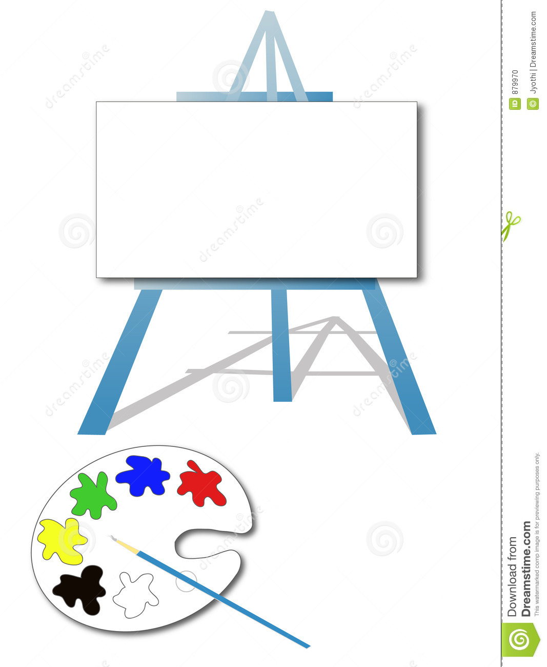 Cartoon Art Easel Art easel stock photo
