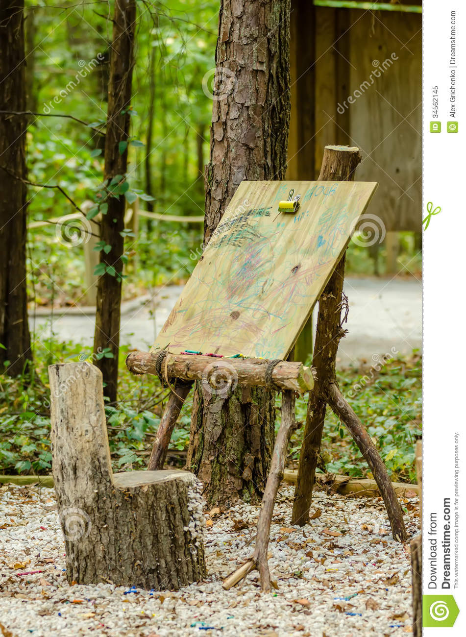 Art Easel In Forest Stock Illustration Image Of Isolated