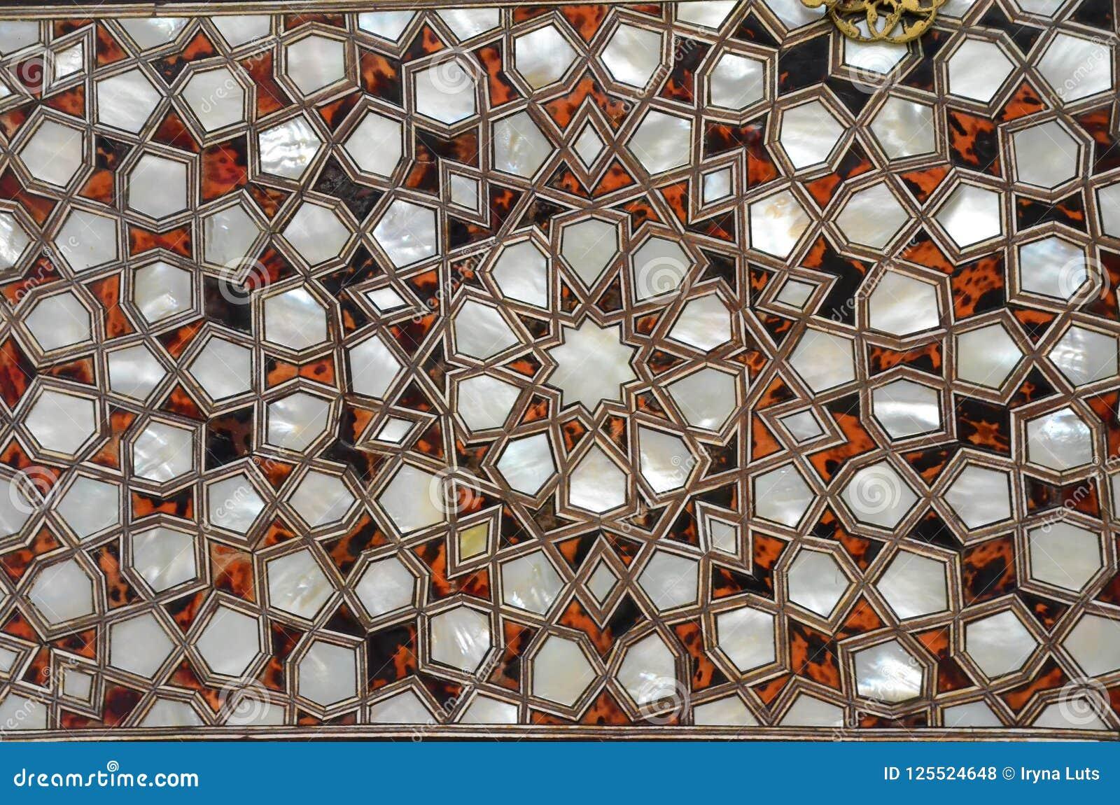 Art en verre rougeoyant Fond abstrait de texture Modèle turc de tradition