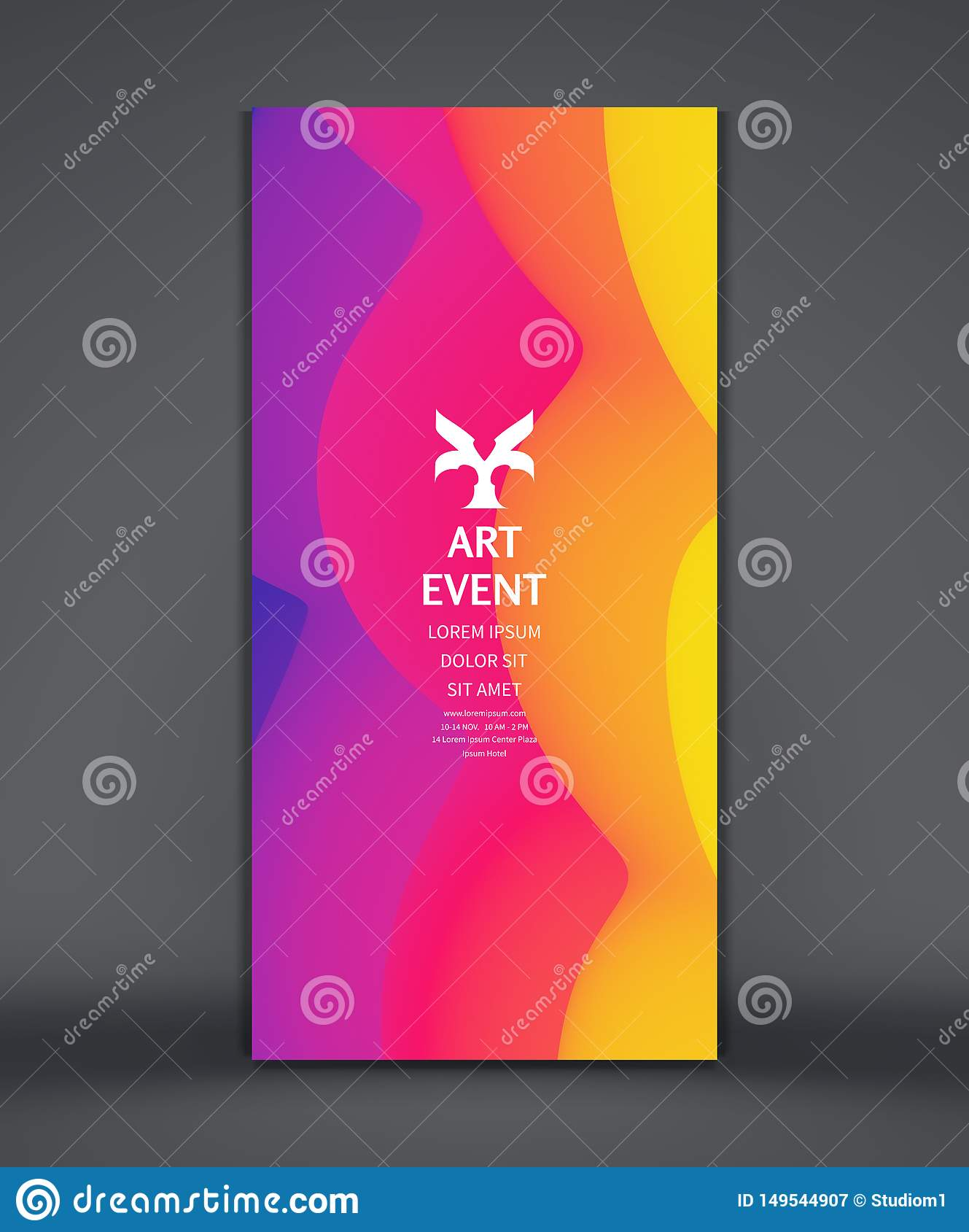 Art Event Invitation Template Abstract Background With
